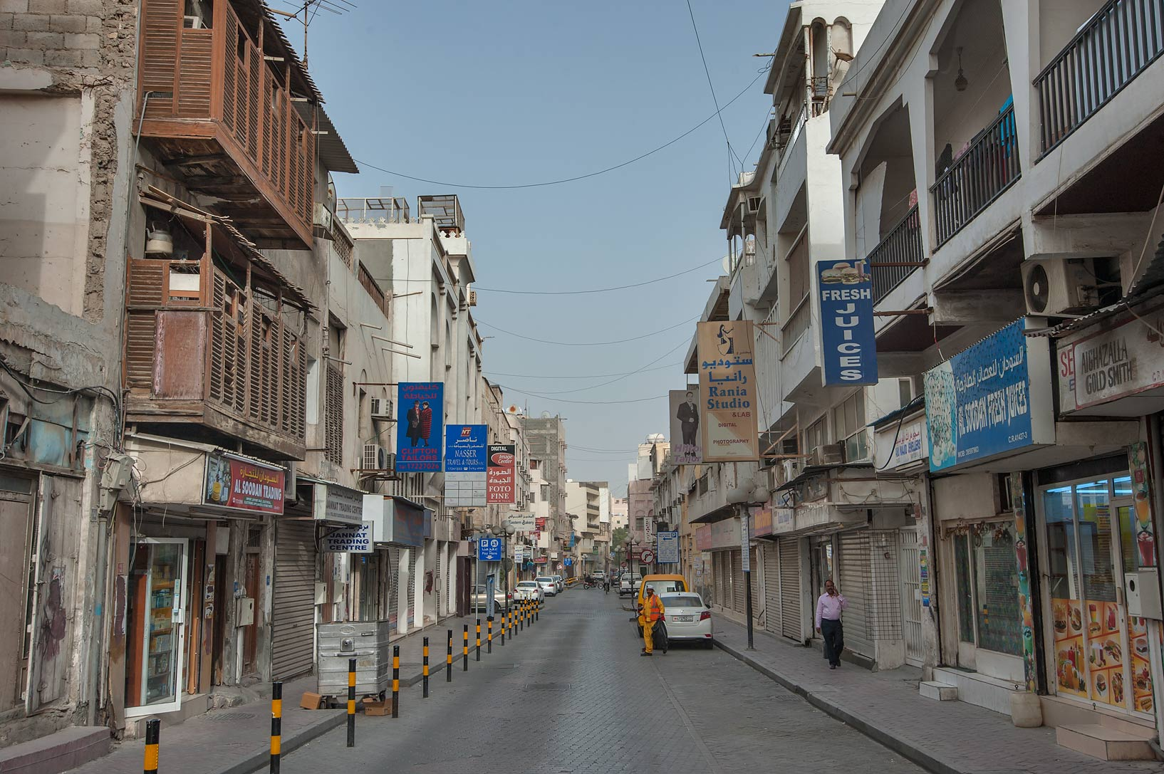 Central Manama, Bahrain  - A street in Central Manama. Bahrain