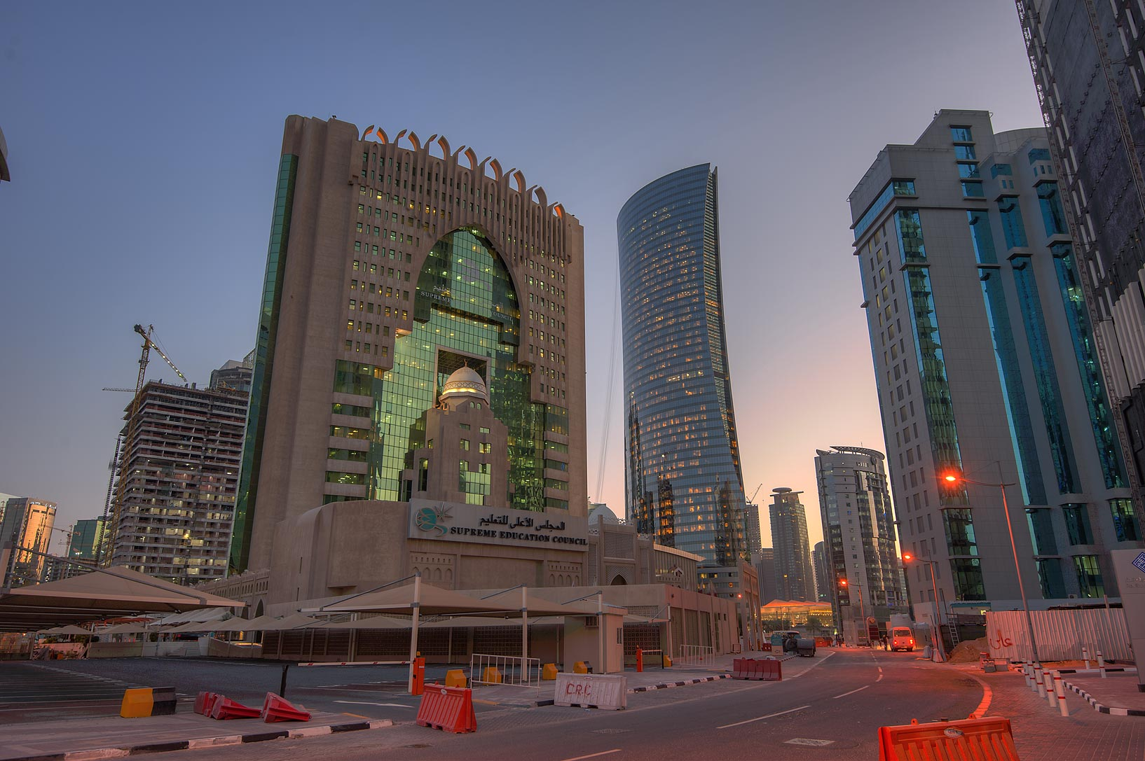 Ministry of Education in West Bay. Doha, Qatar