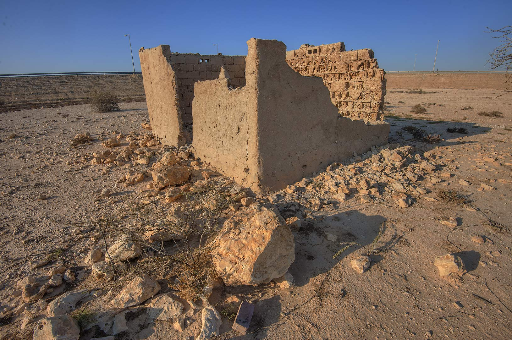 Ruins of a barrack in Uwaynat Bin Husayn near Simaisma. Qatar
