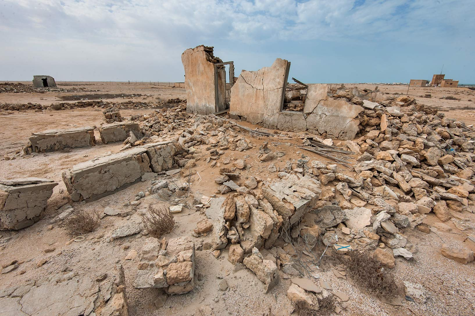 Stone ruins of Al Areesh. Northern Qatar