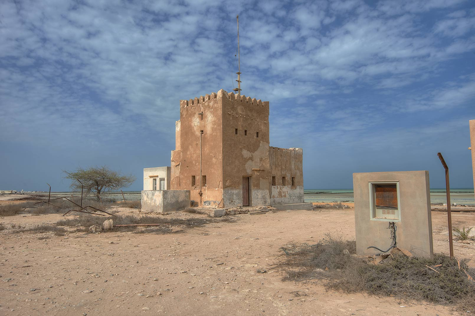 Police Station (Coast Guard) in Al Areesh. Northern Qatar