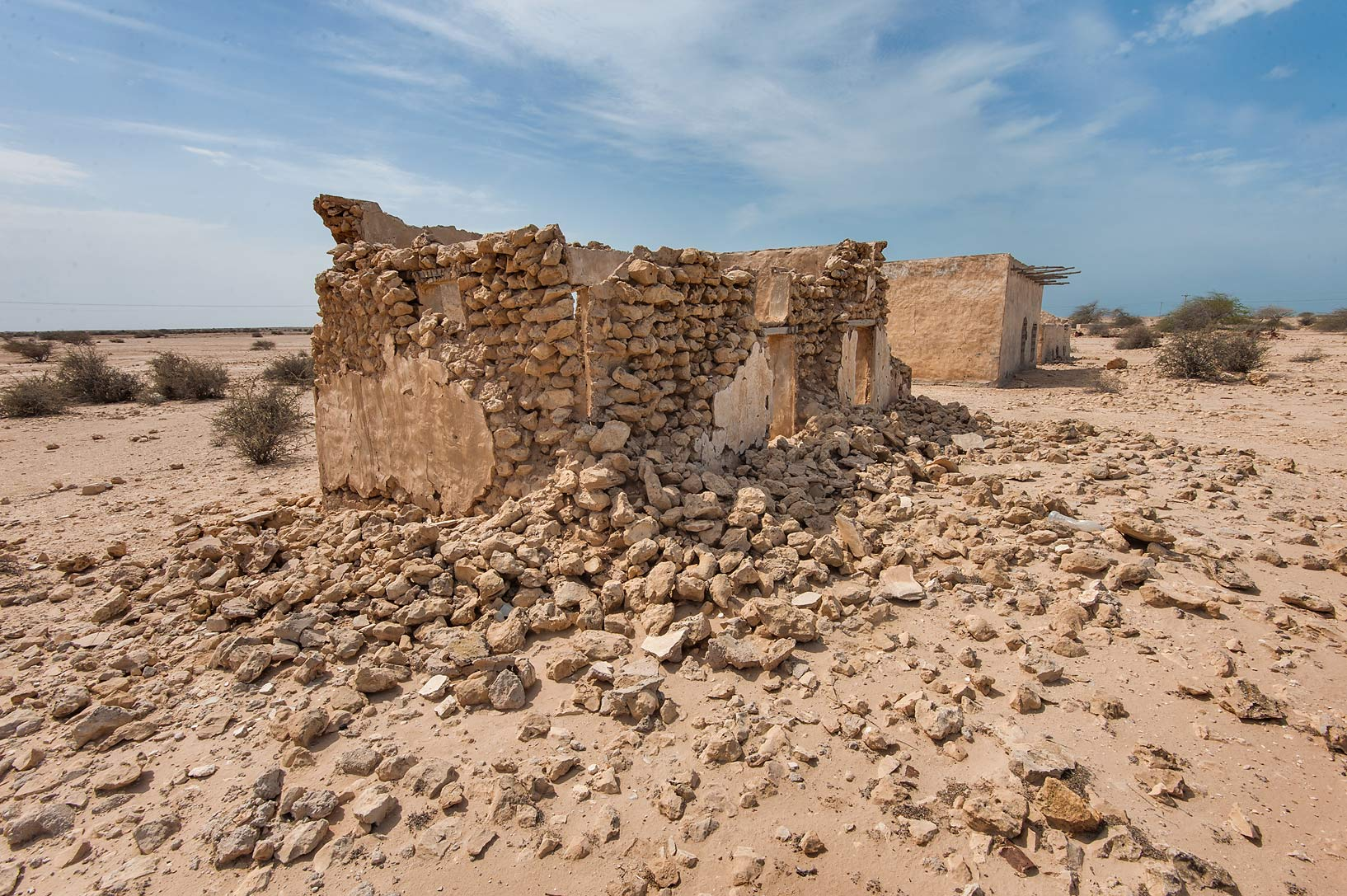 Ruins of houses of Nasser bin Mohamed bin...Rd. north from Zubara. Northern Qatar