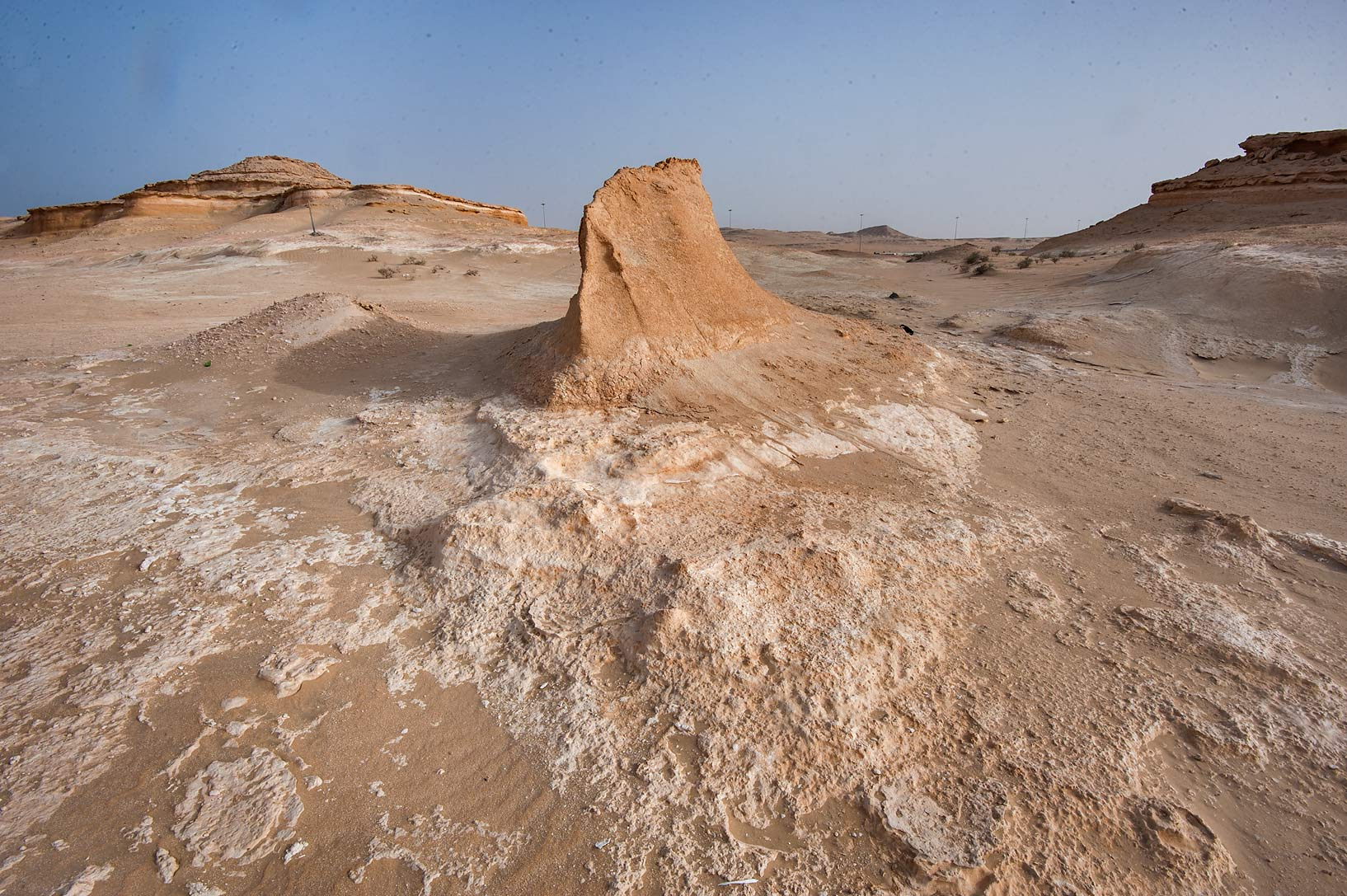 Yardang (aerodynamically eroded ridge) near Salwa...area of Rawdat Ekdaim. Southern Qatar