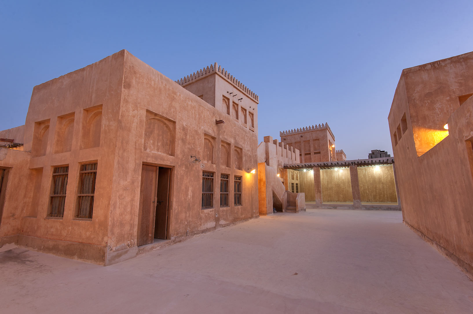 Traditional houses in Al Wakra Heritage Village (Souq Waqif in Al Wakrah). Qatar