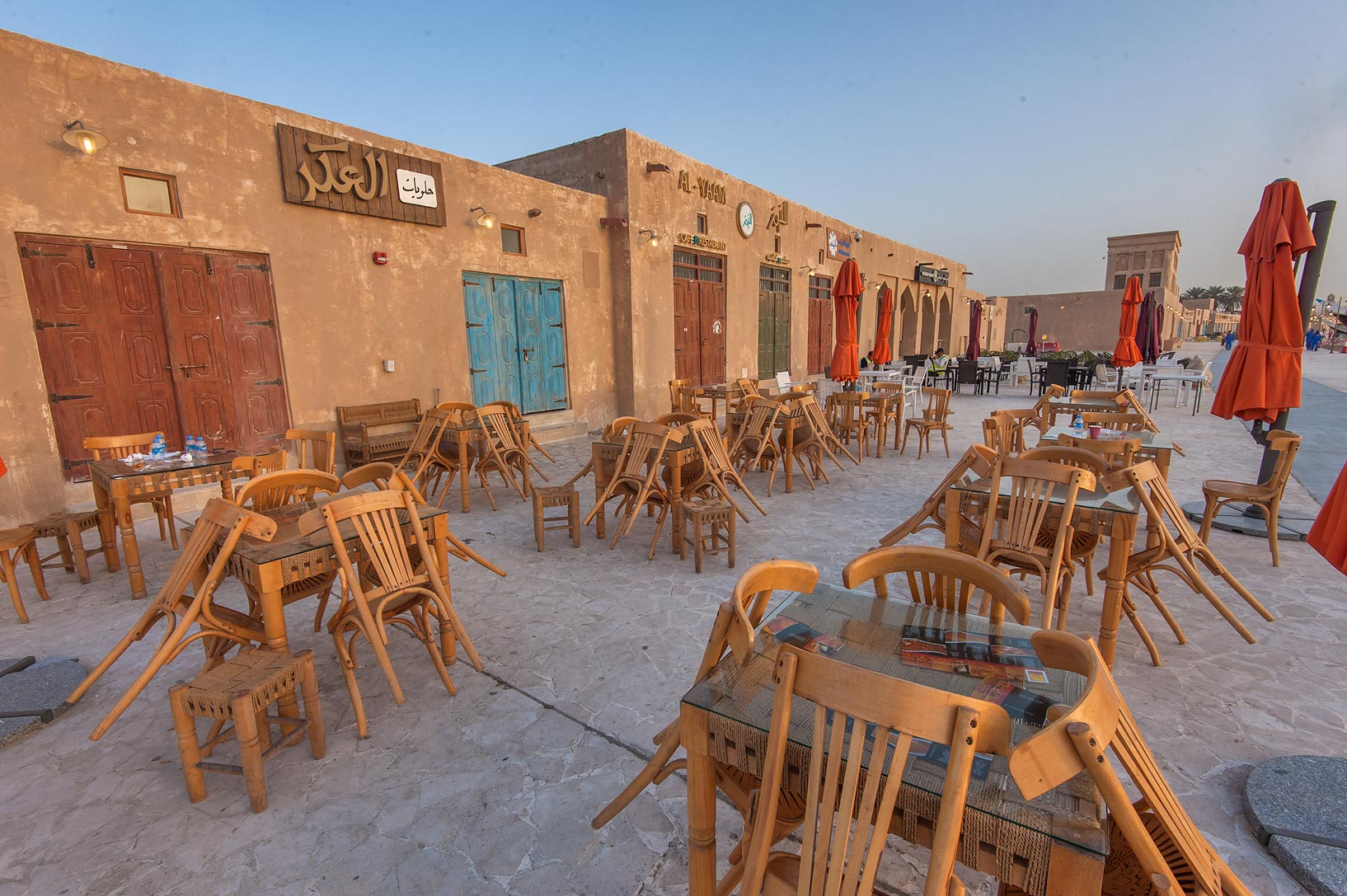 Al Yaam Restaurant on Corniche promenade at...Souq Waqif in Al Wakrah). Qatar