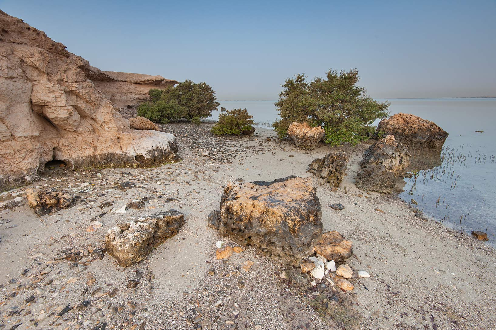 Northern tip of Purple Island (Jazirat Bin Ghanim). Al Khor, Qatar