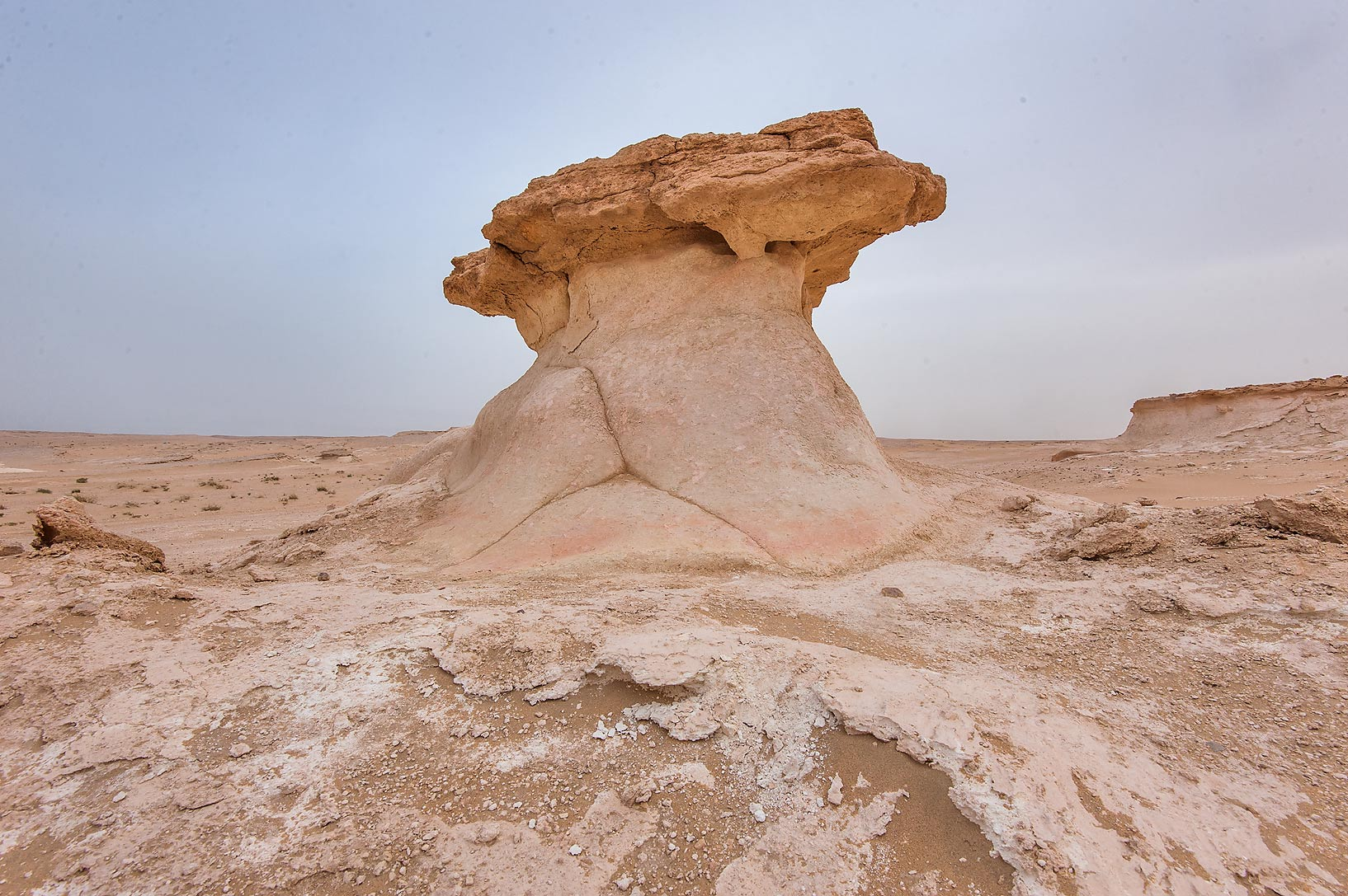 Limestone mushroom in area of Nakhsh Mountain near Salwa Rd. in southern Qatar