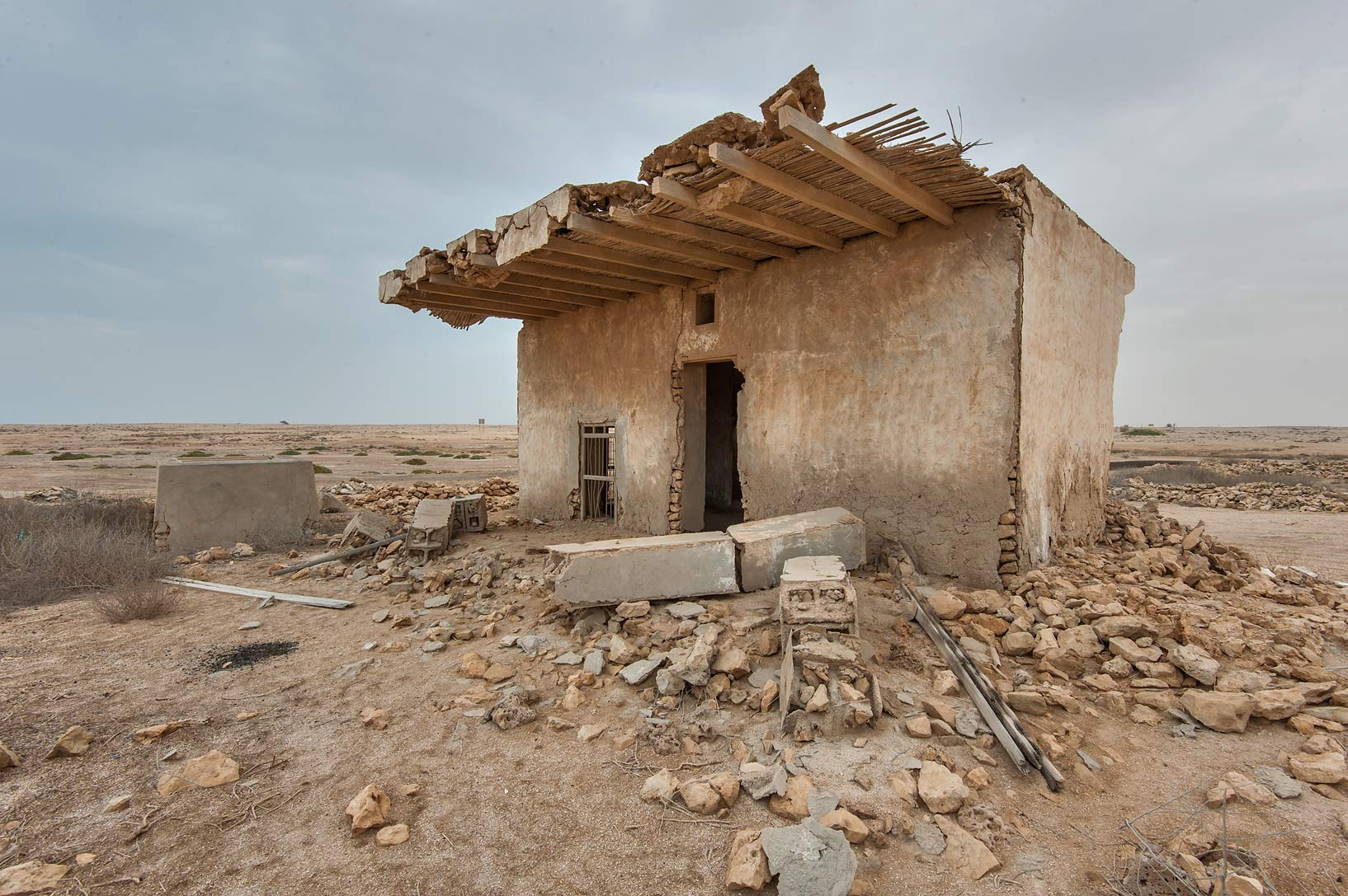 Old house in a village of Al Jumail (Jumayl) west of Ruwais. Northern Qatar