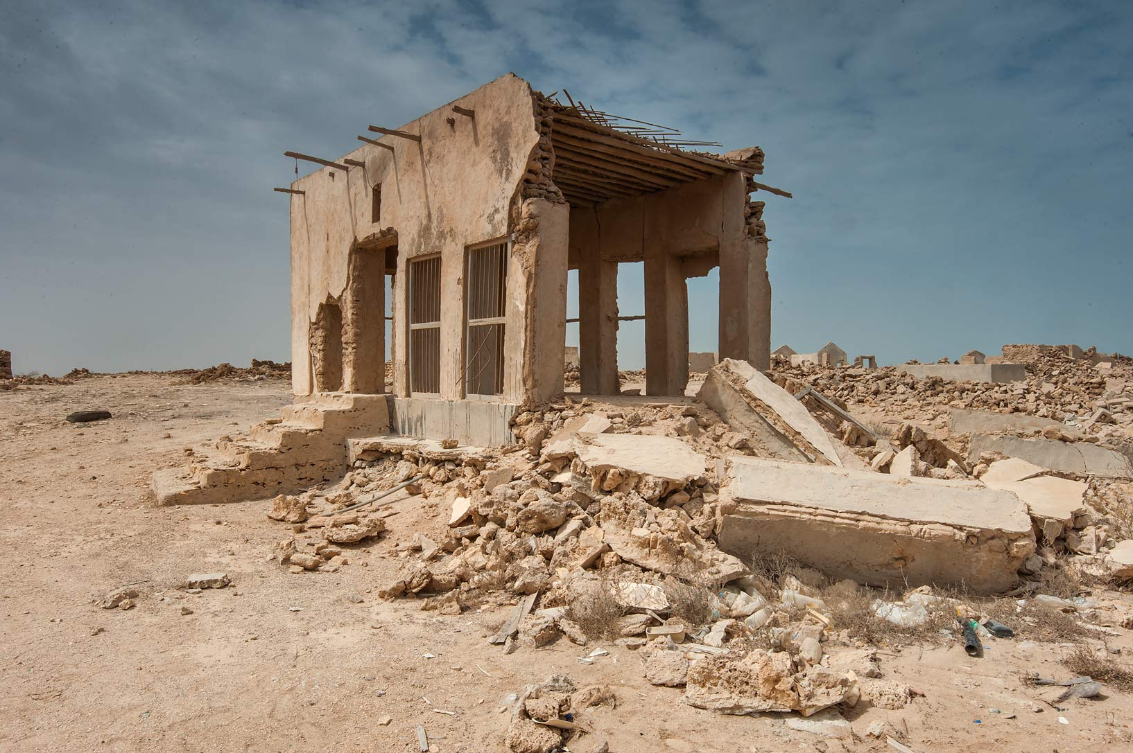 Stone house in a village of Al Areesh (Arish). Northern Qatar