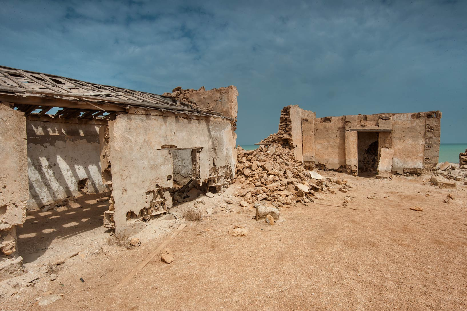 Ruins of barracks in a village of Al Areesh (Arish). Northern Qatar