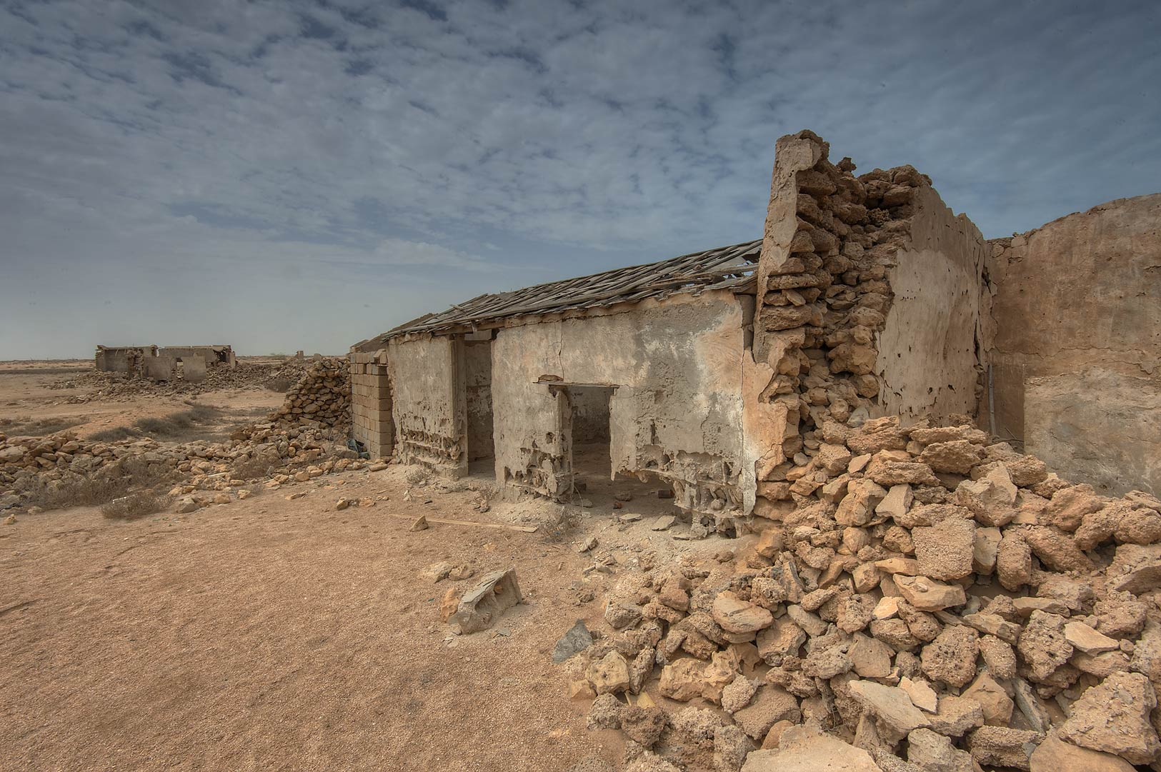 Old houses in a village of Al Areesh (Arish). Northern Qatar