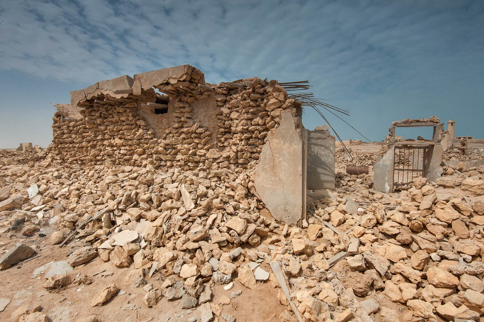 Masonry in a village of Al Areesh (Arish). Northern Qatar