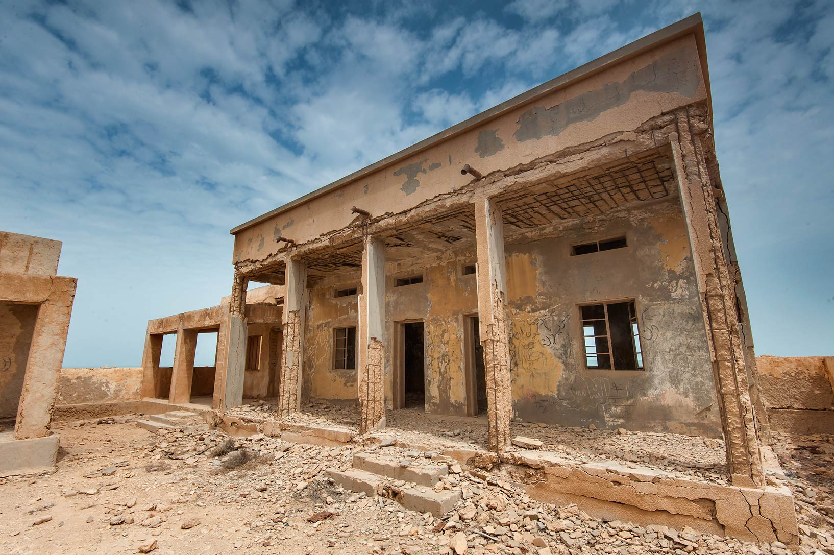 School building in a village of Al Areesh (Arish). Northern Qatar