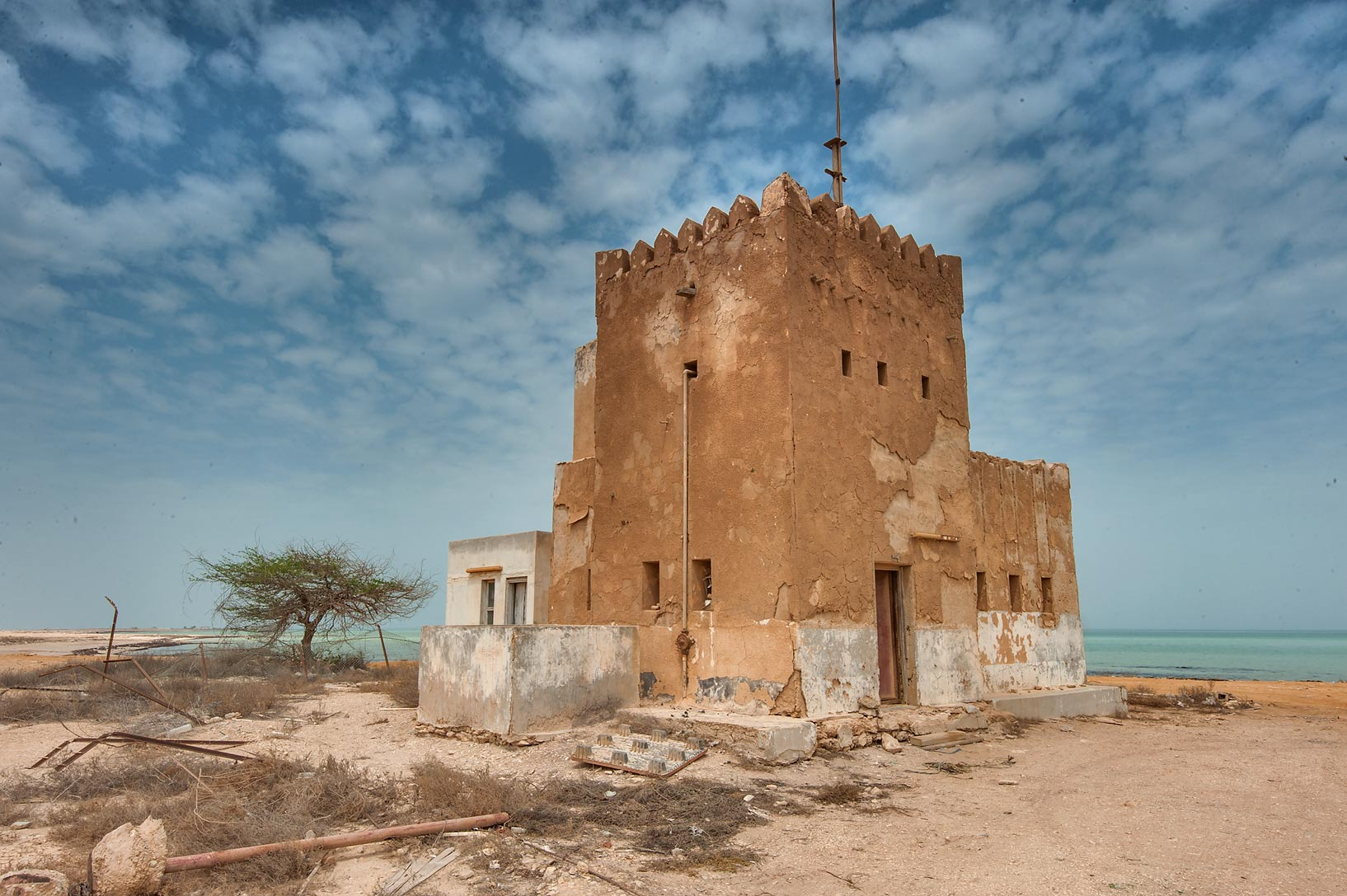 Police Station (Coast Guard) in a village of Al Areesh (Arish). Northern Qatar