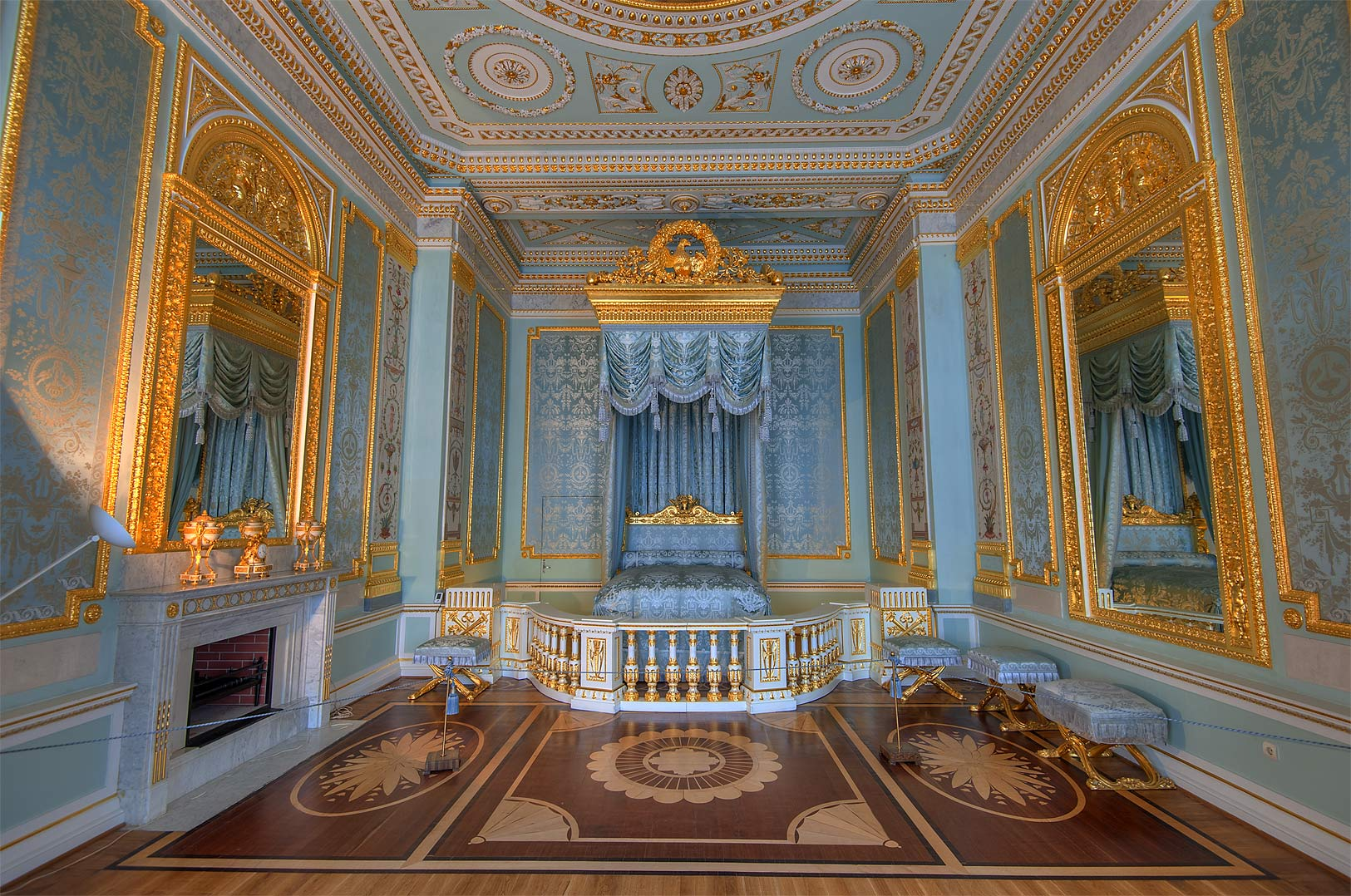 State bedroom in Gatchina Palace. Gatchina, suburb of St.Petersburg, Russia