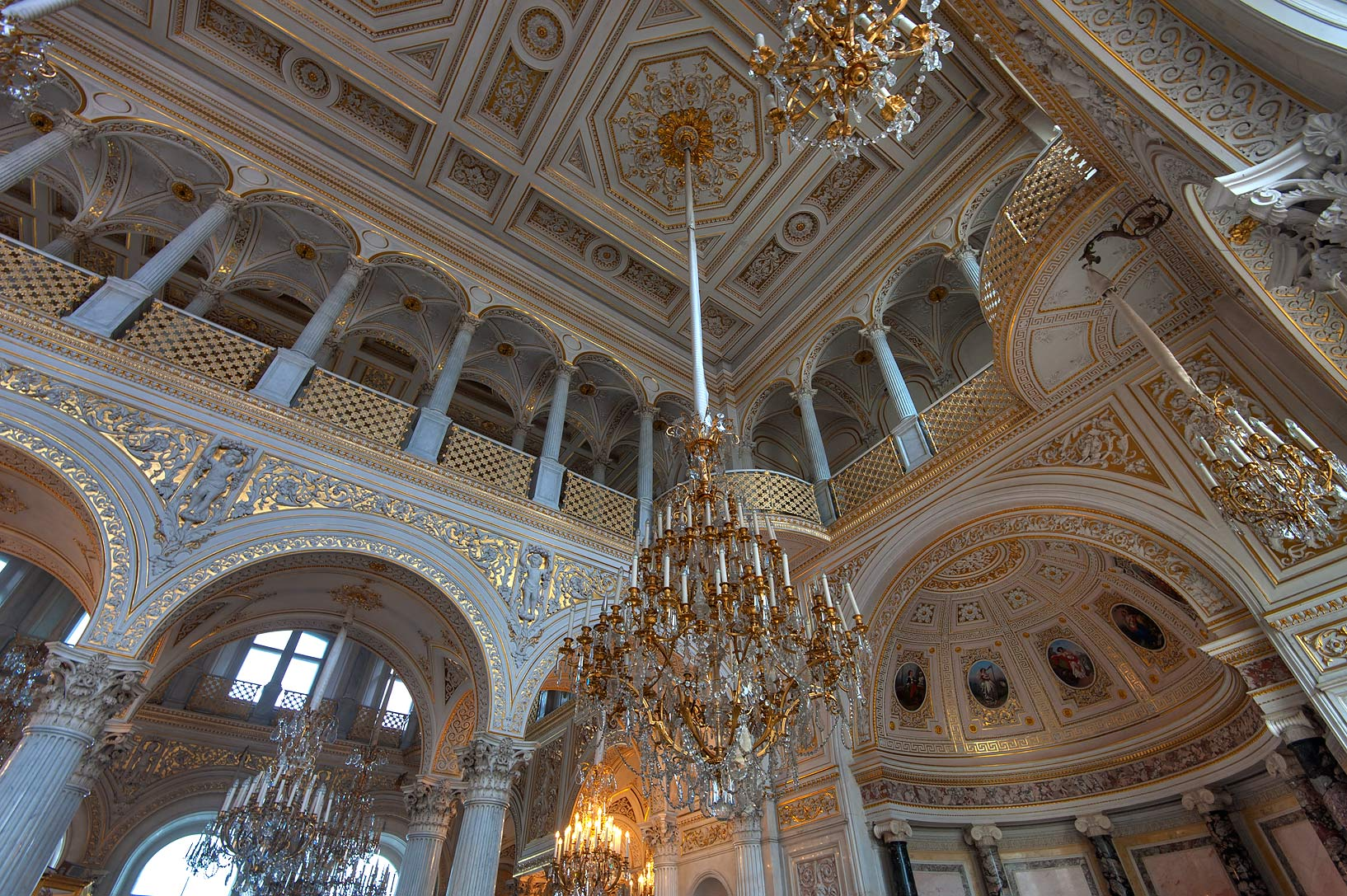 Pavilion Hall in Hermitage Museum. St.Petersburg, Russia