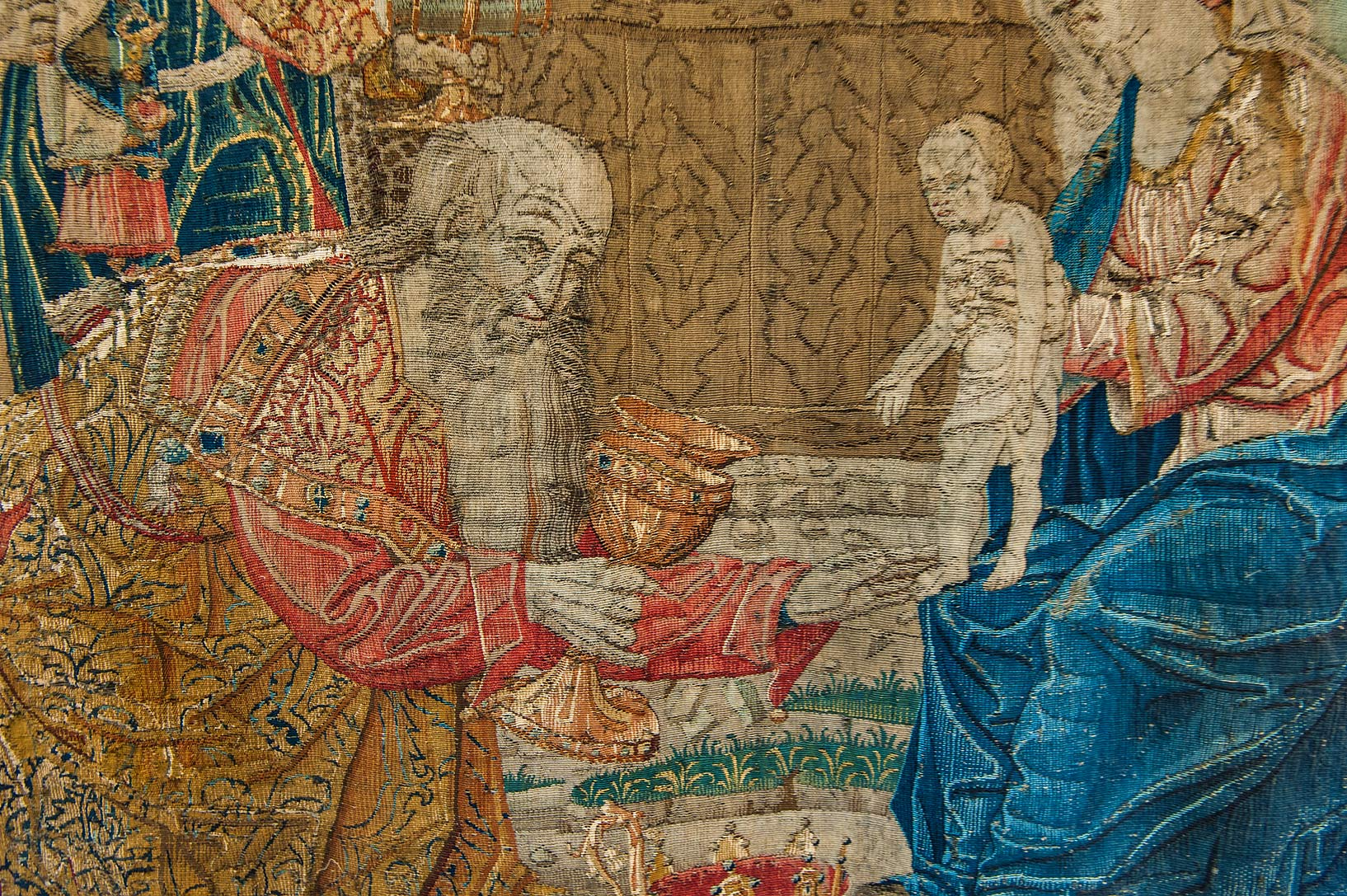 Bible scene on a tapestry in Hermitage Museum. St.Petersburg, Russia