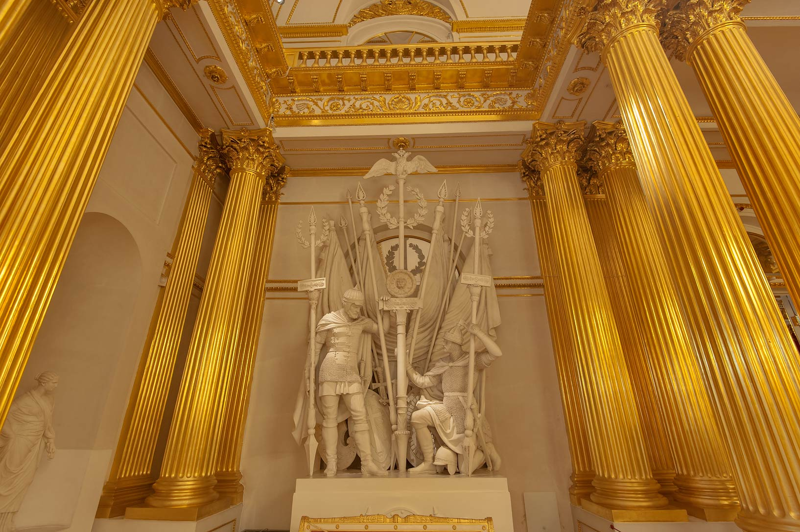 Sculptures of Armorial Hall (Gerbovy Zal, Emblem...Museum. St.Petersburg, Russia