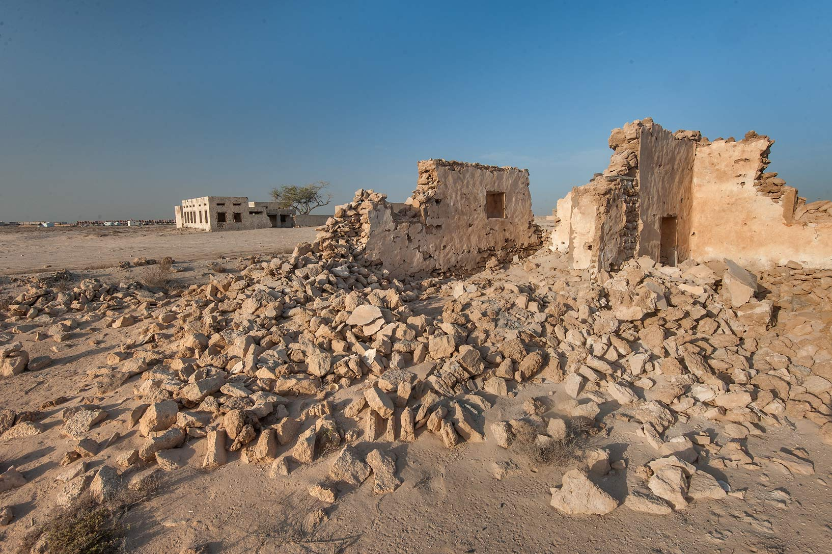 Girl Mawas House with Antral School in old...eastern coast, Ash Shamal area. Qatar
