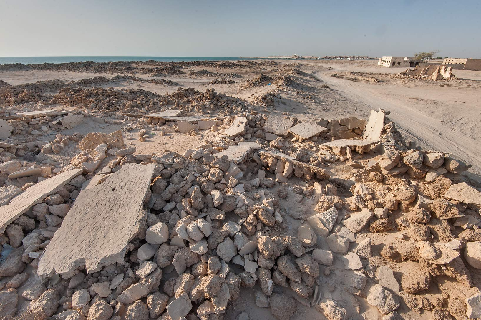 Old fishing village (ghost town) of Al Ghariyah...eastern coast, Ash Shamal area. Qatar
