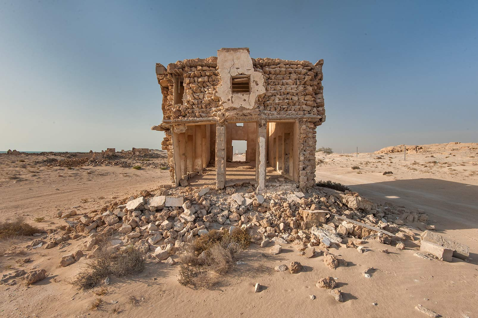 Stone house in northern side in old fishing...eastern coast, Ash Shamal area. Qatar