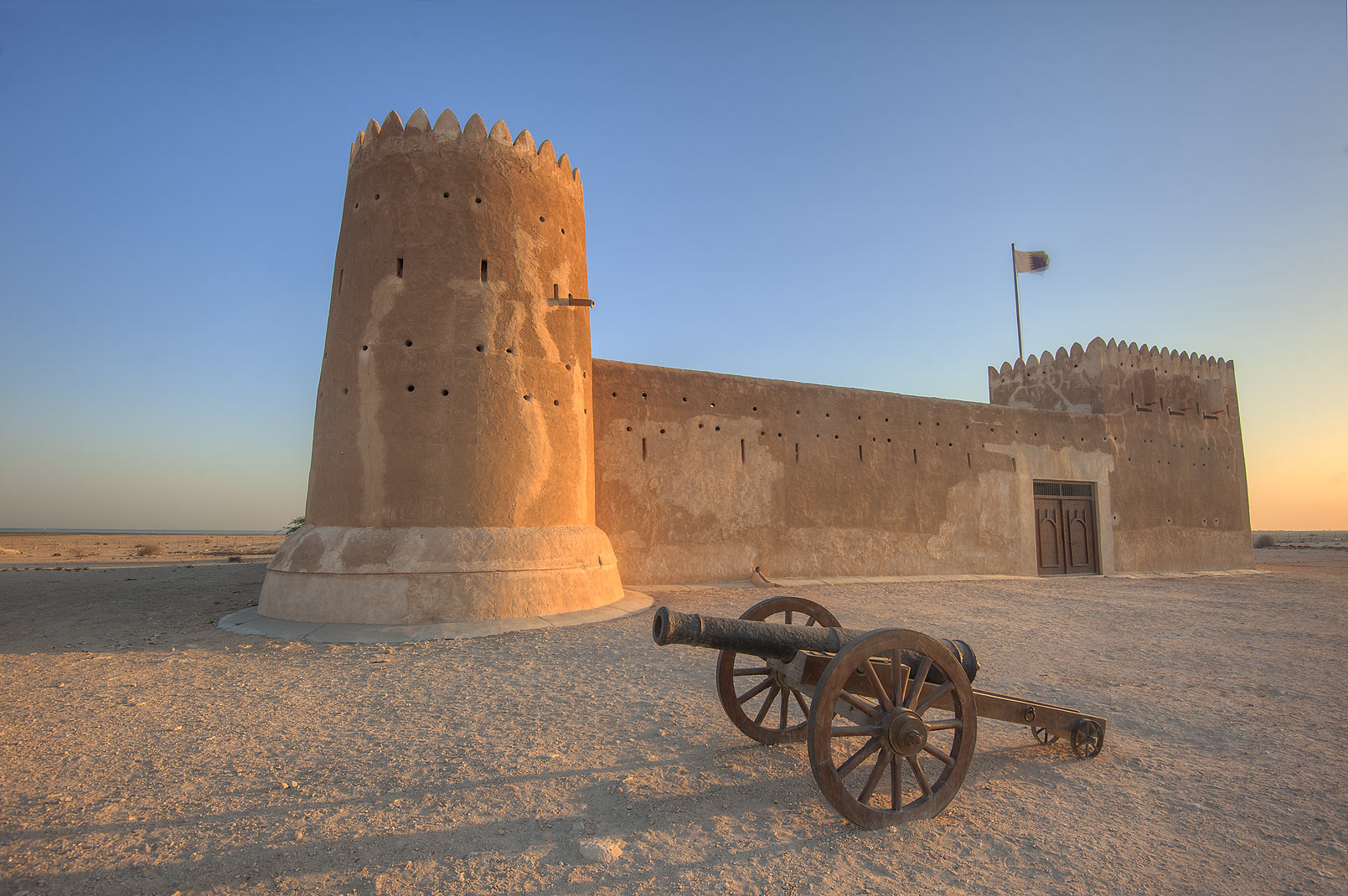 Northern Qatar  - Zubara Fort at sunrise. Northern Qatar