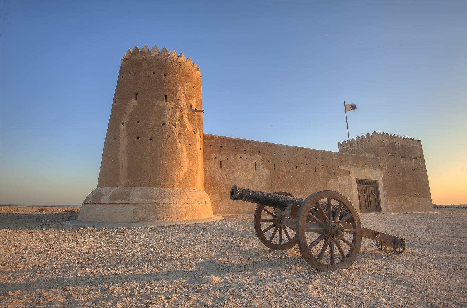 photo 161402 reconstructed zubara fort on northwest