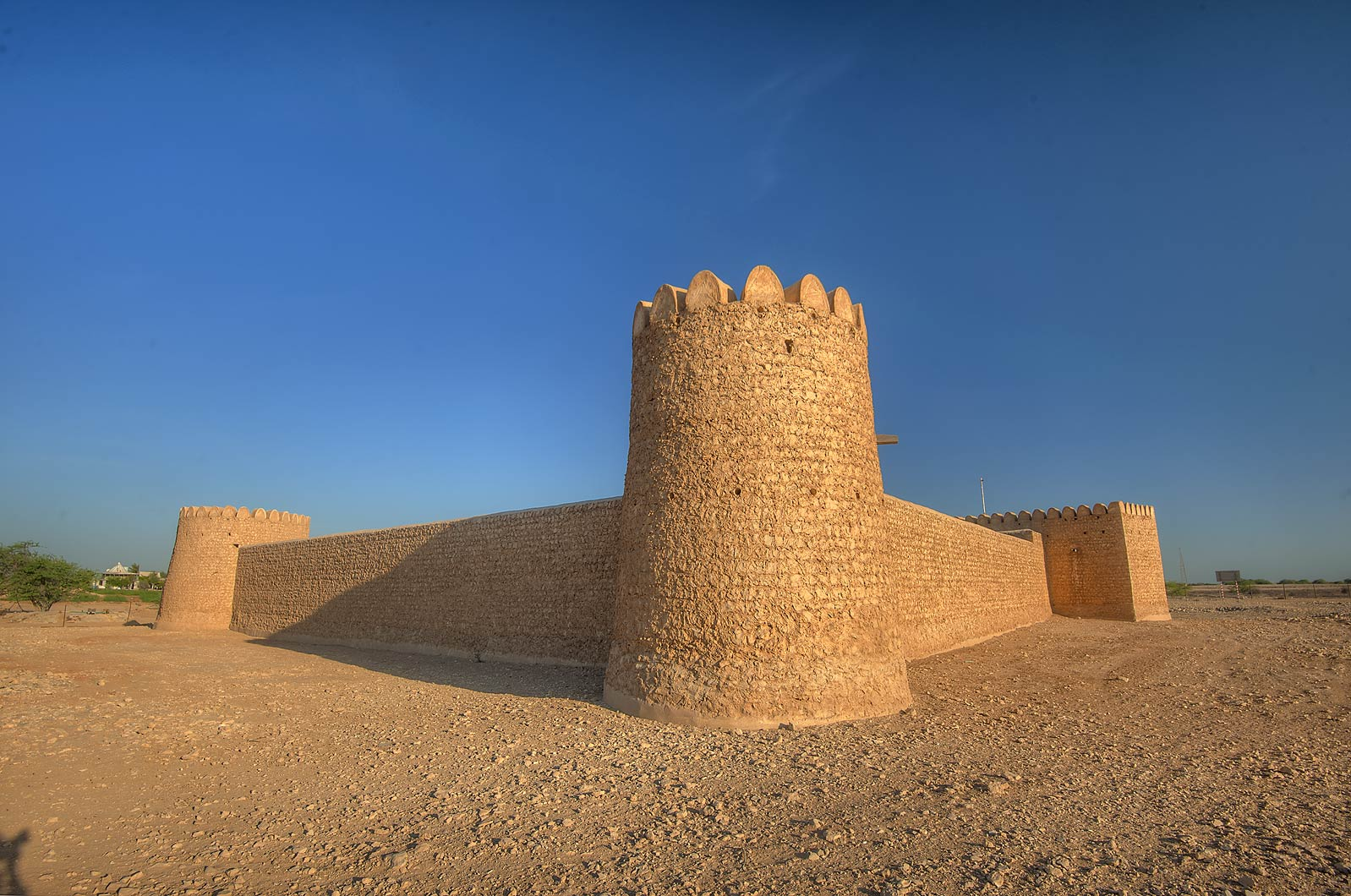 Al Thugab Fort. North-west coast, Qatar