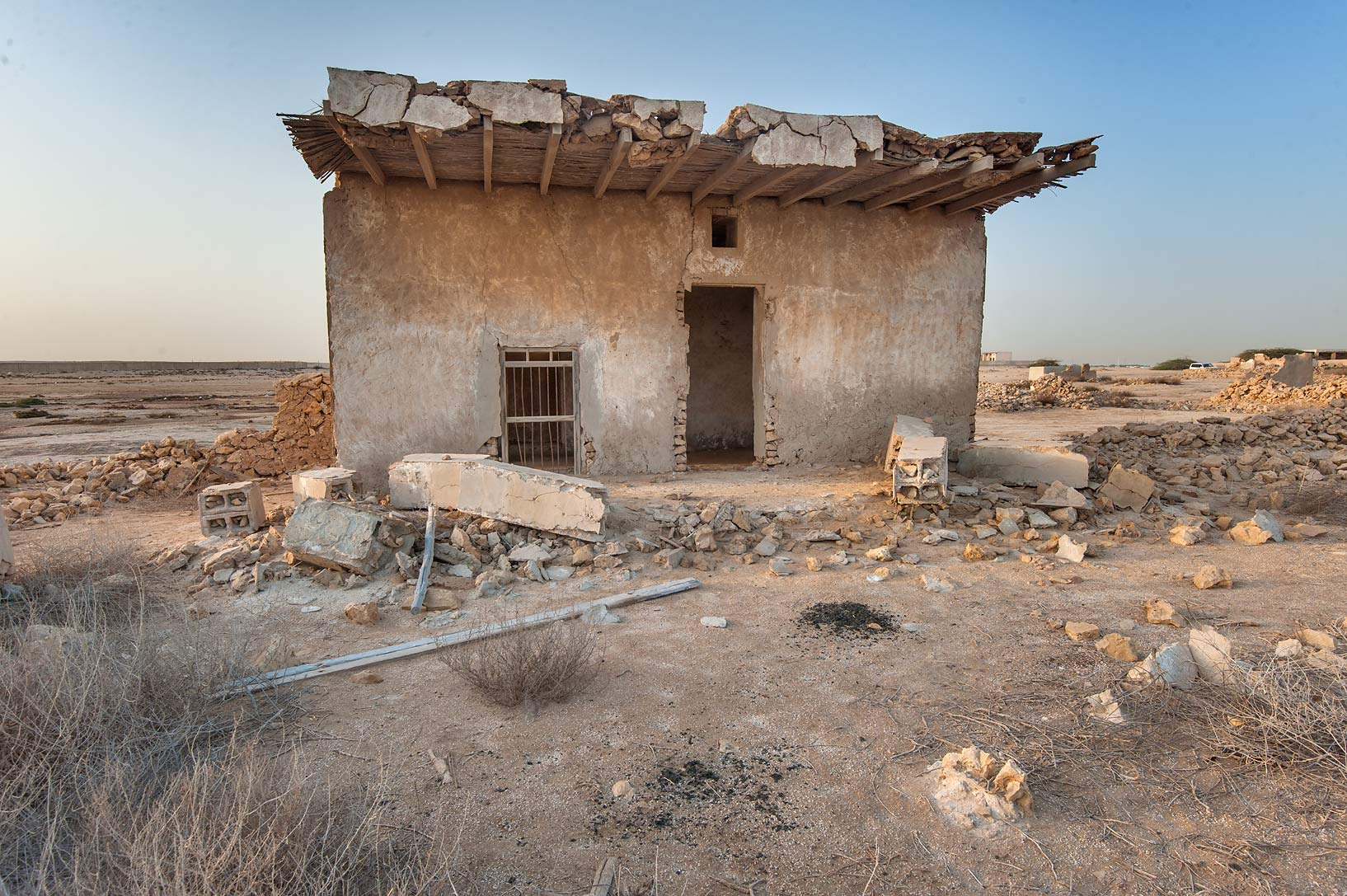 Some stone shed in a fishing village of Al Jumail (Jumayl) west of Ruwais. Northern Qatar