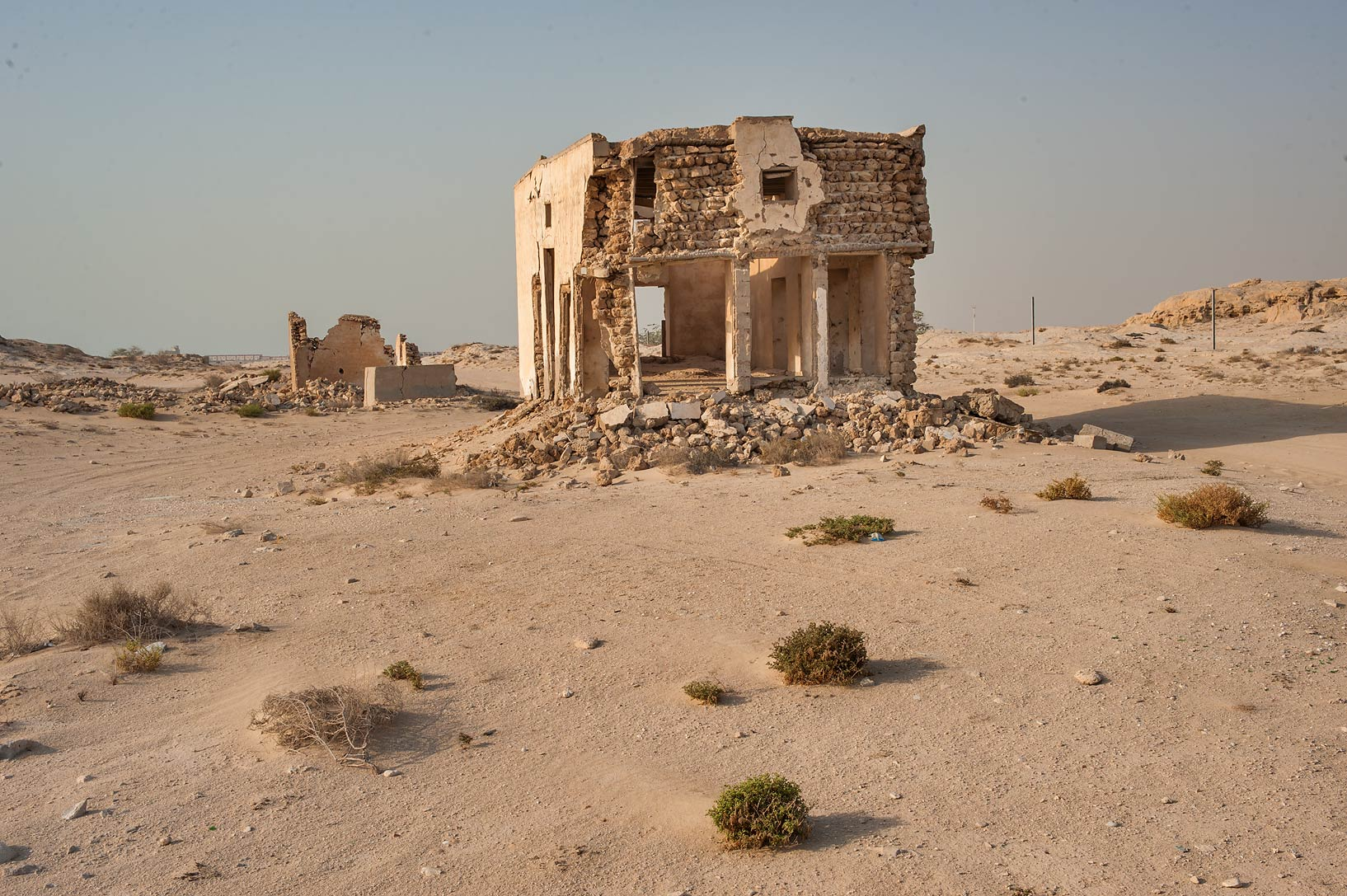 Ruins of a stone house on northern side in old...eastern coast, Ash Shamal area. Qatar