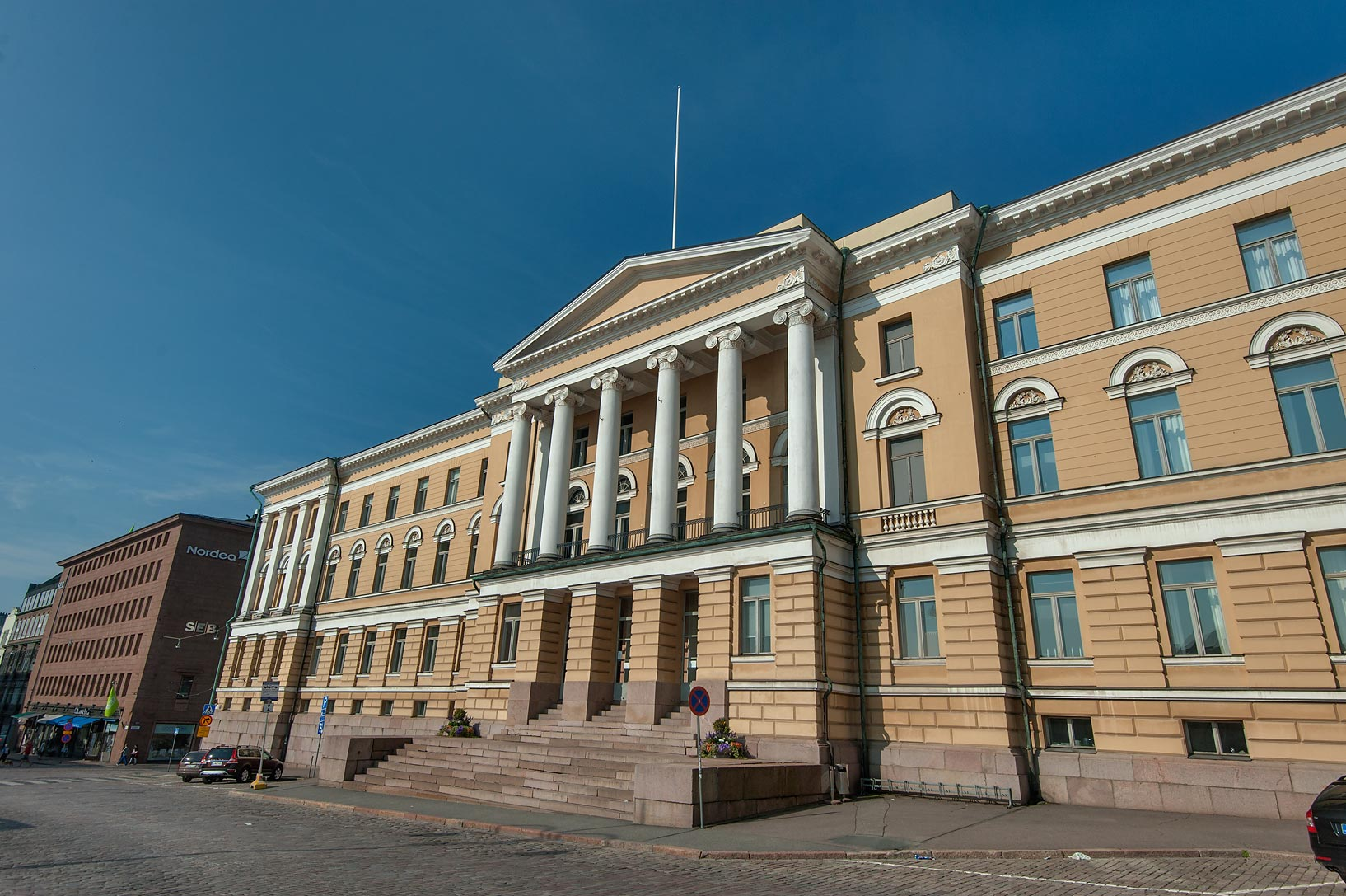 Main University Building on Senate Square. Helsinki, Finland