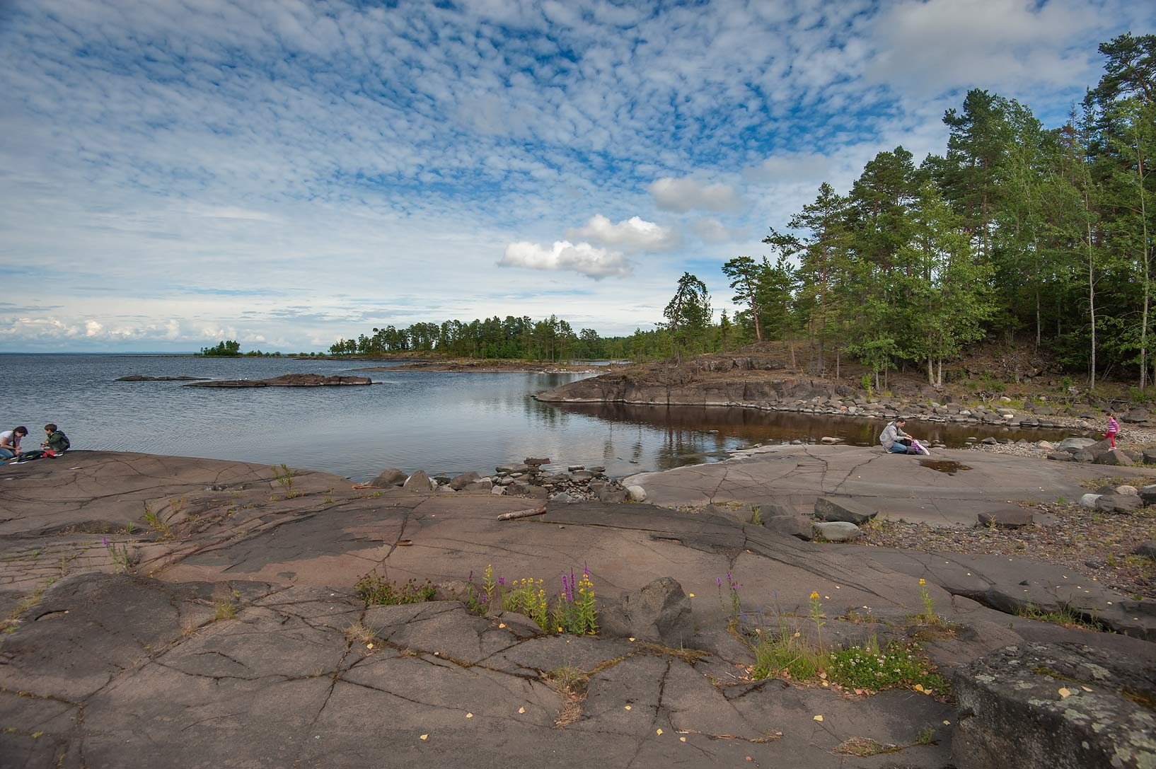 Small rocky island south-east from Nikolsky...Valaam Island. Karelia Region, Russia