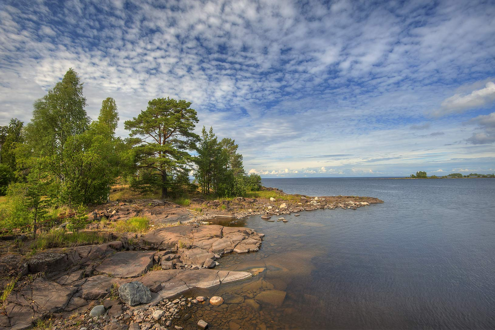 Eastern side of Nikolsky Island, on Valaam Island. Karelia Region, Russia