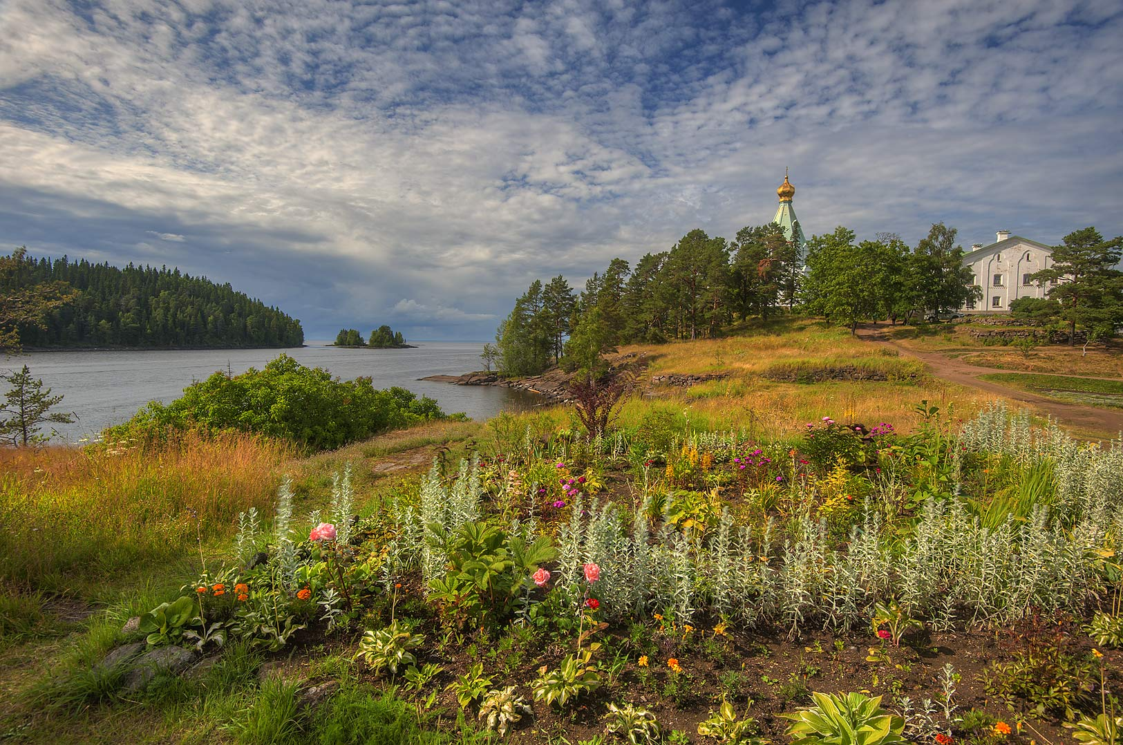 Southern side of Nikolsky Island, on Valaam Island. Karelia Region, Russia