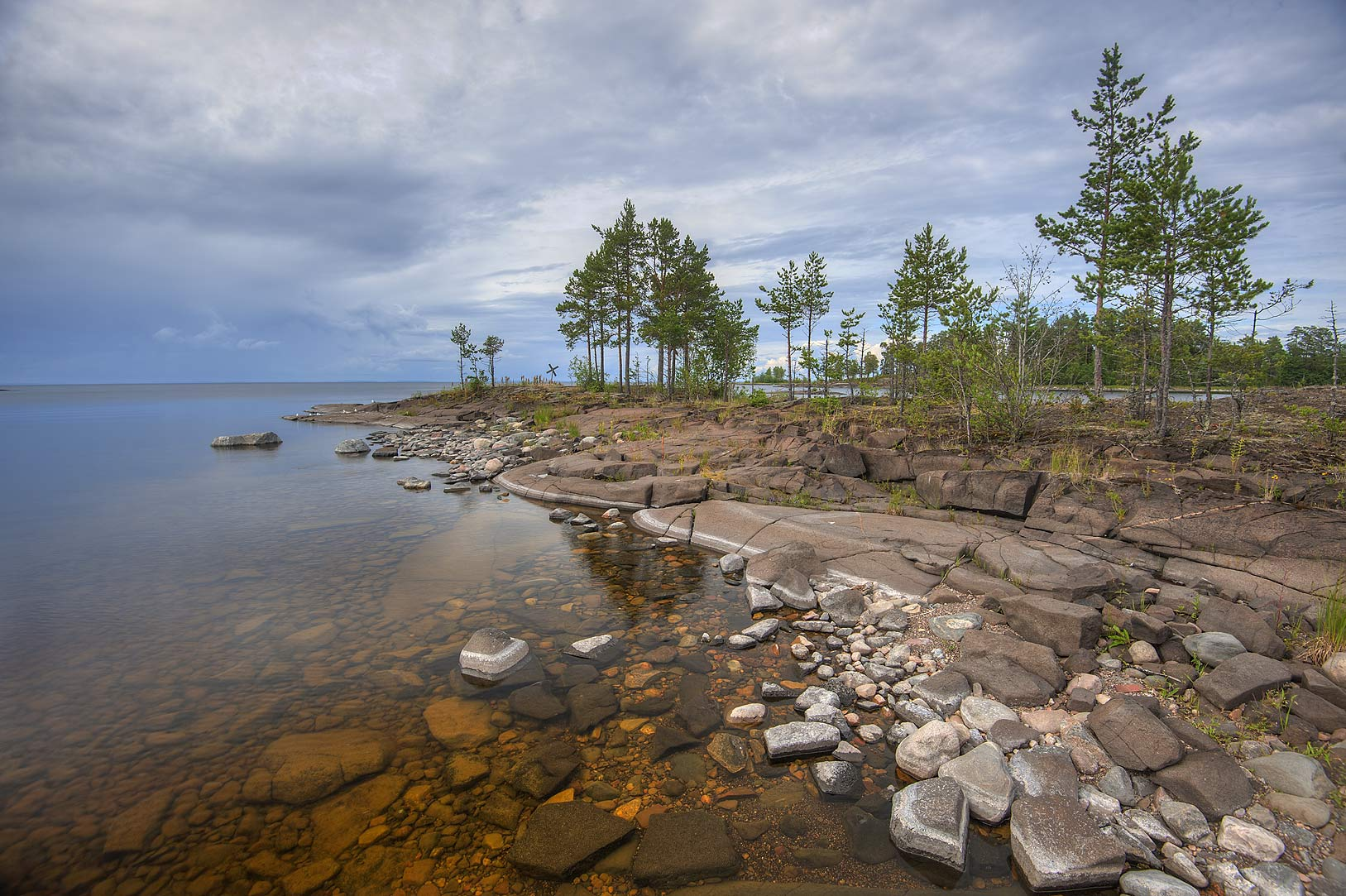 Small island beside Monastyrsky Island, on Valaam Island. Karelia Region, Russia