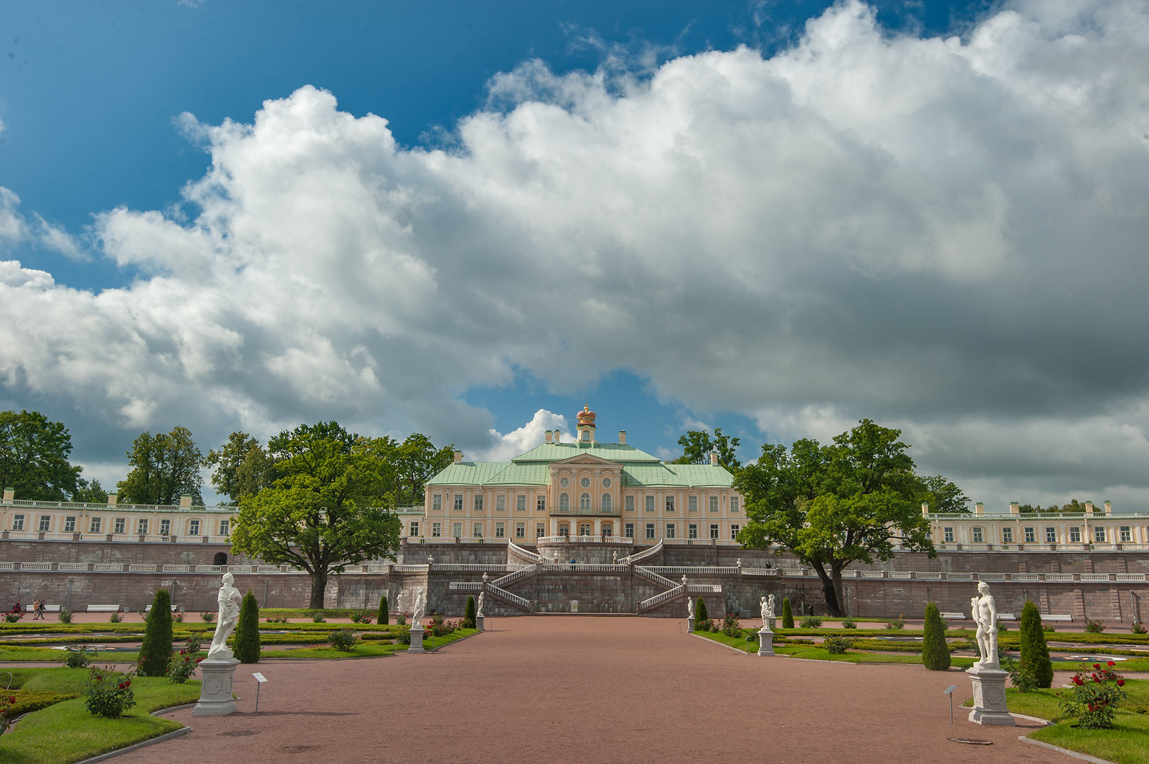 Grand (Menshikov) Palace in Oranienbaum. Lomonosov, west from St.Petersburg, Russia