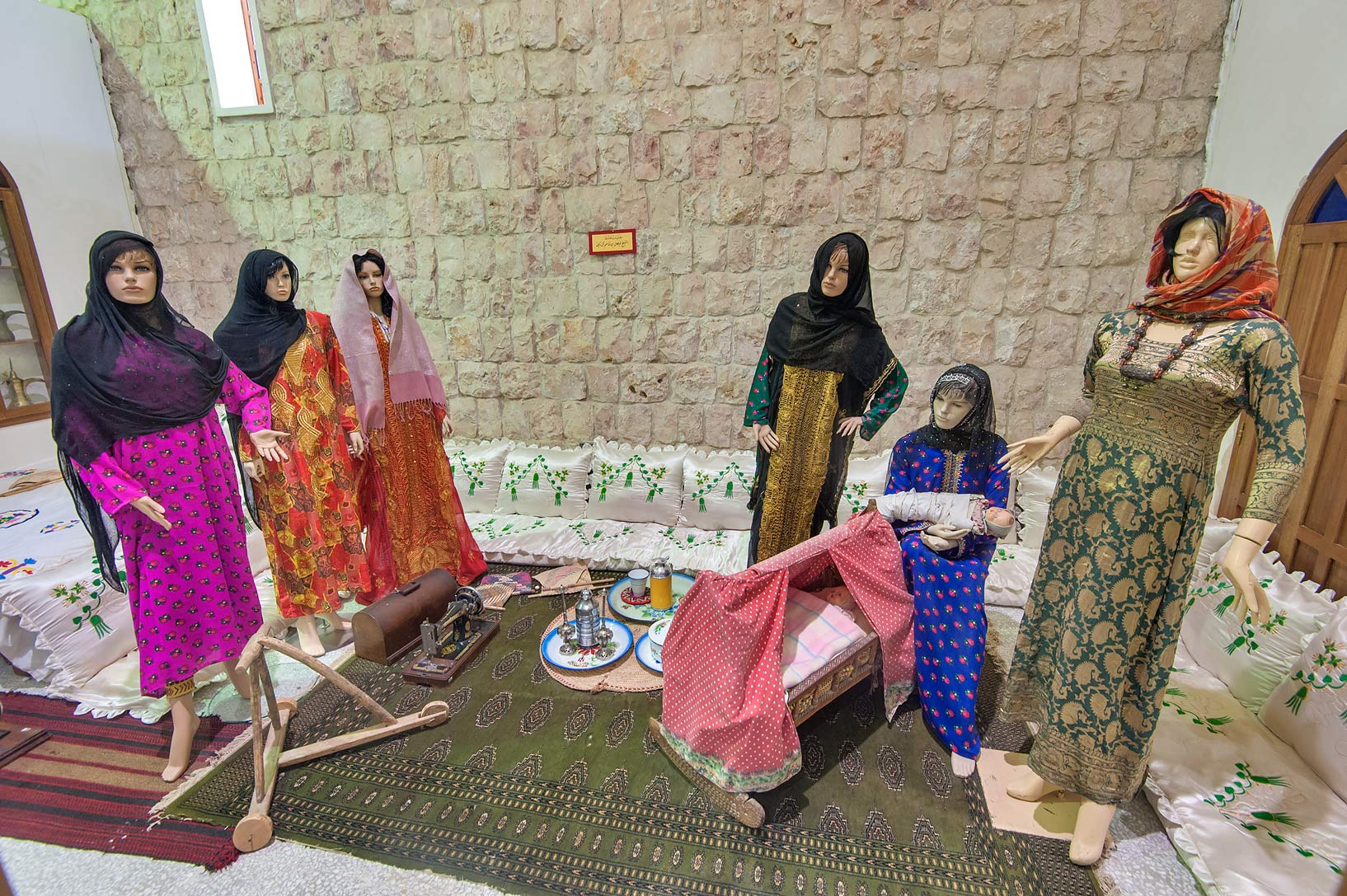 Traditional gathering of women in Sheikh Faisal...Museum near Al-Shahaniya. Doha, Qatar