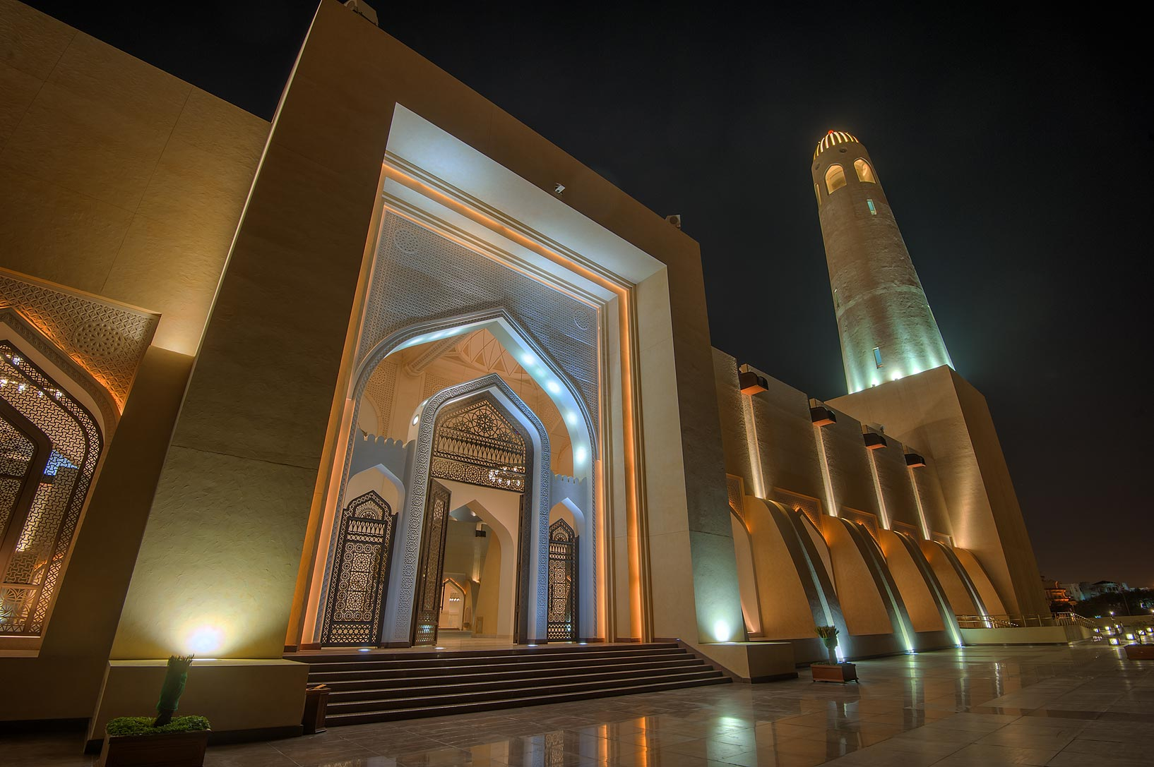 Women's Hall of State Mosque (Sheikh Muhammad Ibn Abdul Wahhab Mosque). Doha, Qatar