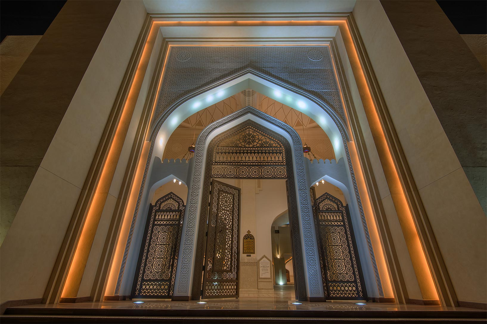 Women's entrance of State Mosque (Sheikh Muhammad Ibn Abdul Wahhab Mosque). Doha, Qatar