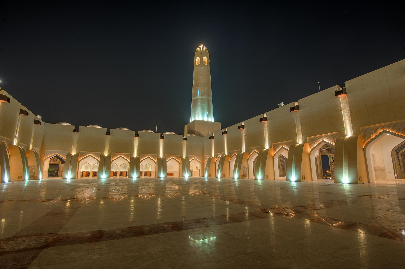 Women's section of State Mosque (Sheikh Muhammad Ibn Abdul Wahhab Mosque). Doha, Qatar