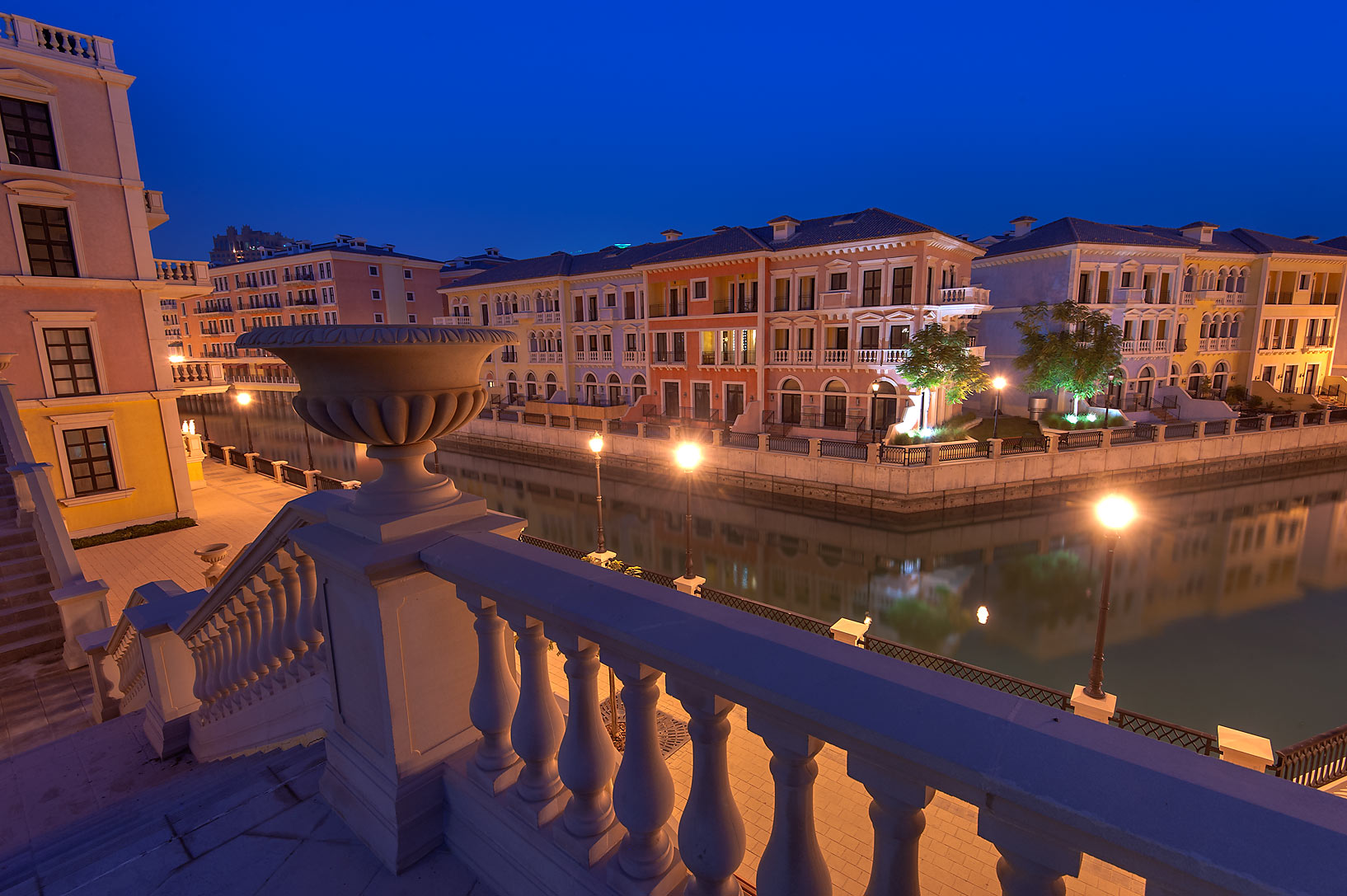 View of Murano area in Qanat Quartier (Venetian...Pearl Development Project, Doha, Qatar