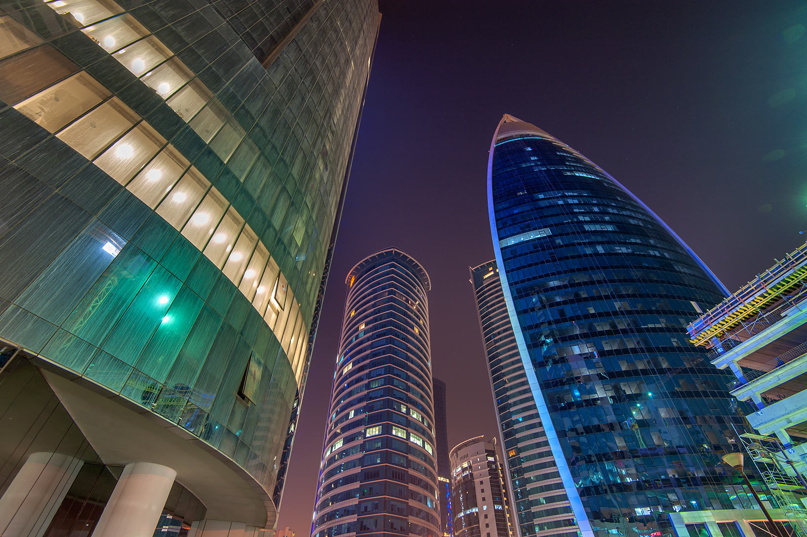 Nakheel and Woqod towers in West Bay. Doha, Qatar