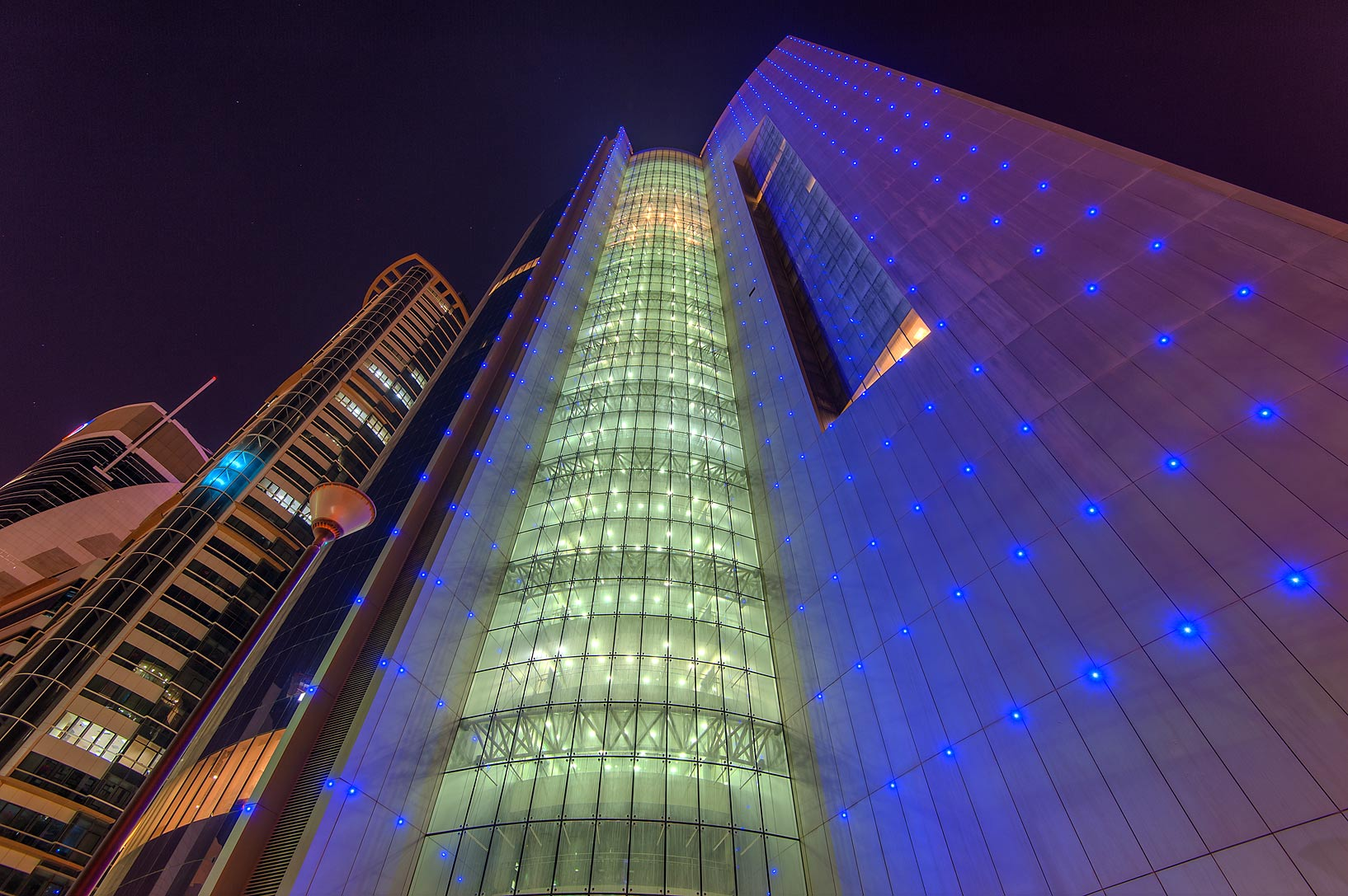 Front view of Nakheel Tower in West Bay. Doha, Qatar