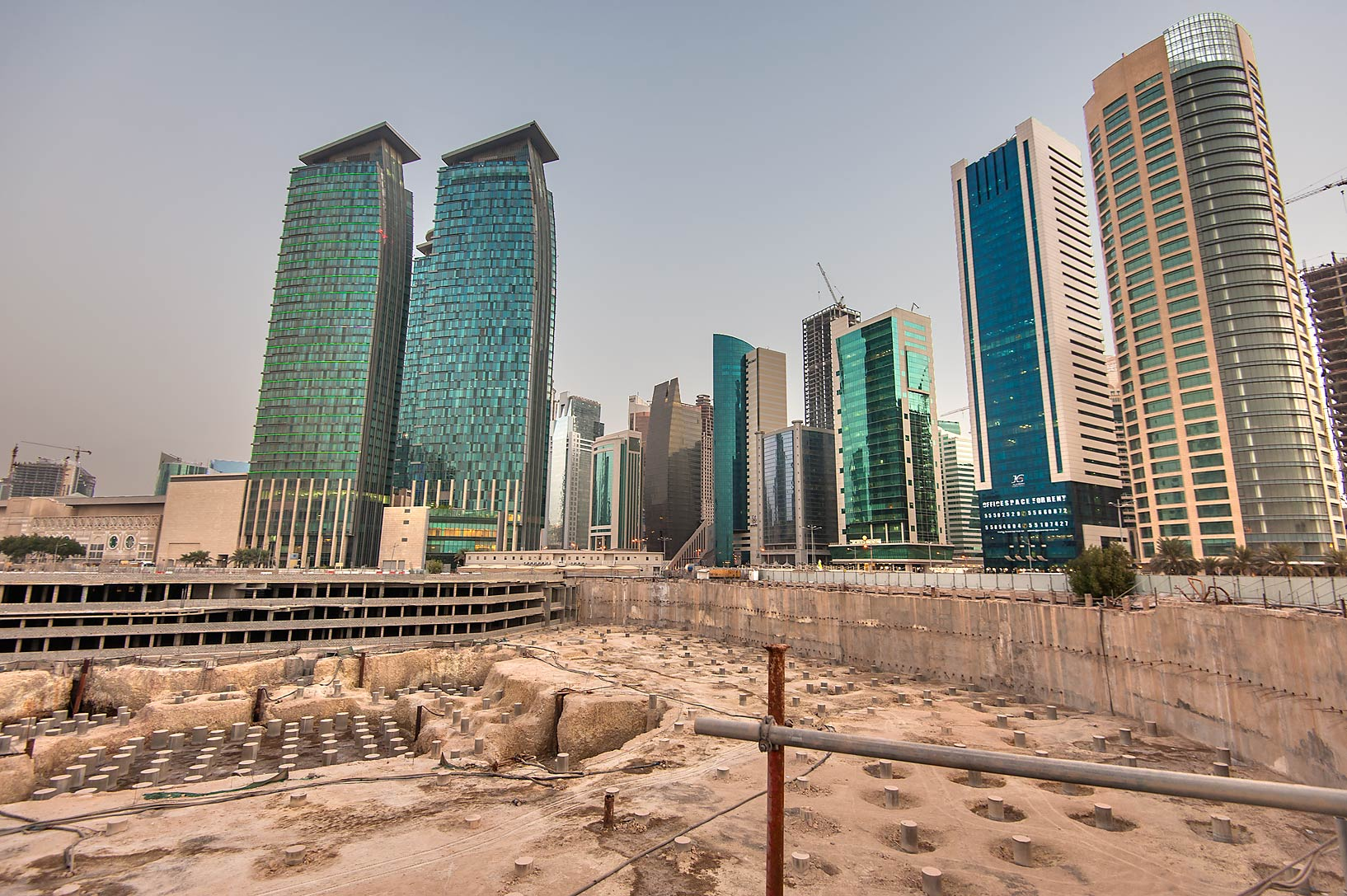 Doha Convention Center and Tower Project near Dafna Signal in West Bay. Doha, Qatar