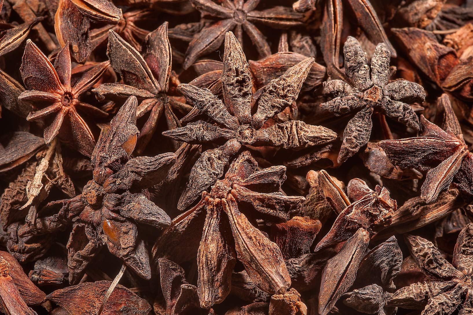 Star anise in spice section in Souq Waqif (Old Market). Doha, Qatar