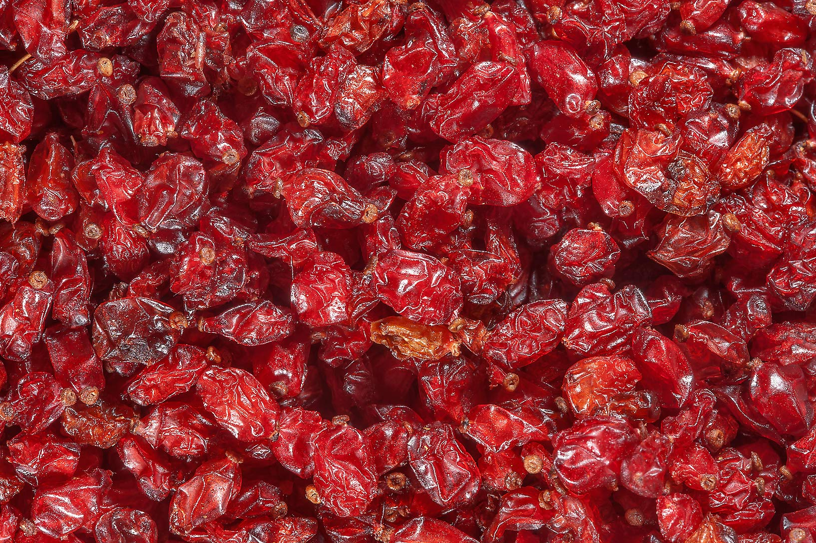 Dried cranberry in spice section in Souq Waqif (Old Market). Doha, Qatar