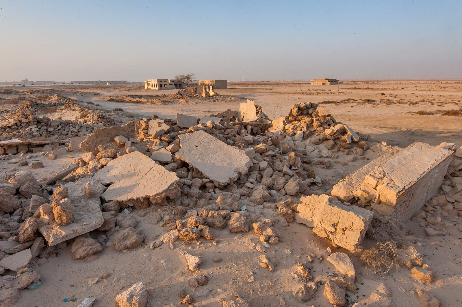 Remains of a stone house in old fishing village...eastern coast, Ash Shamal area. Qatar