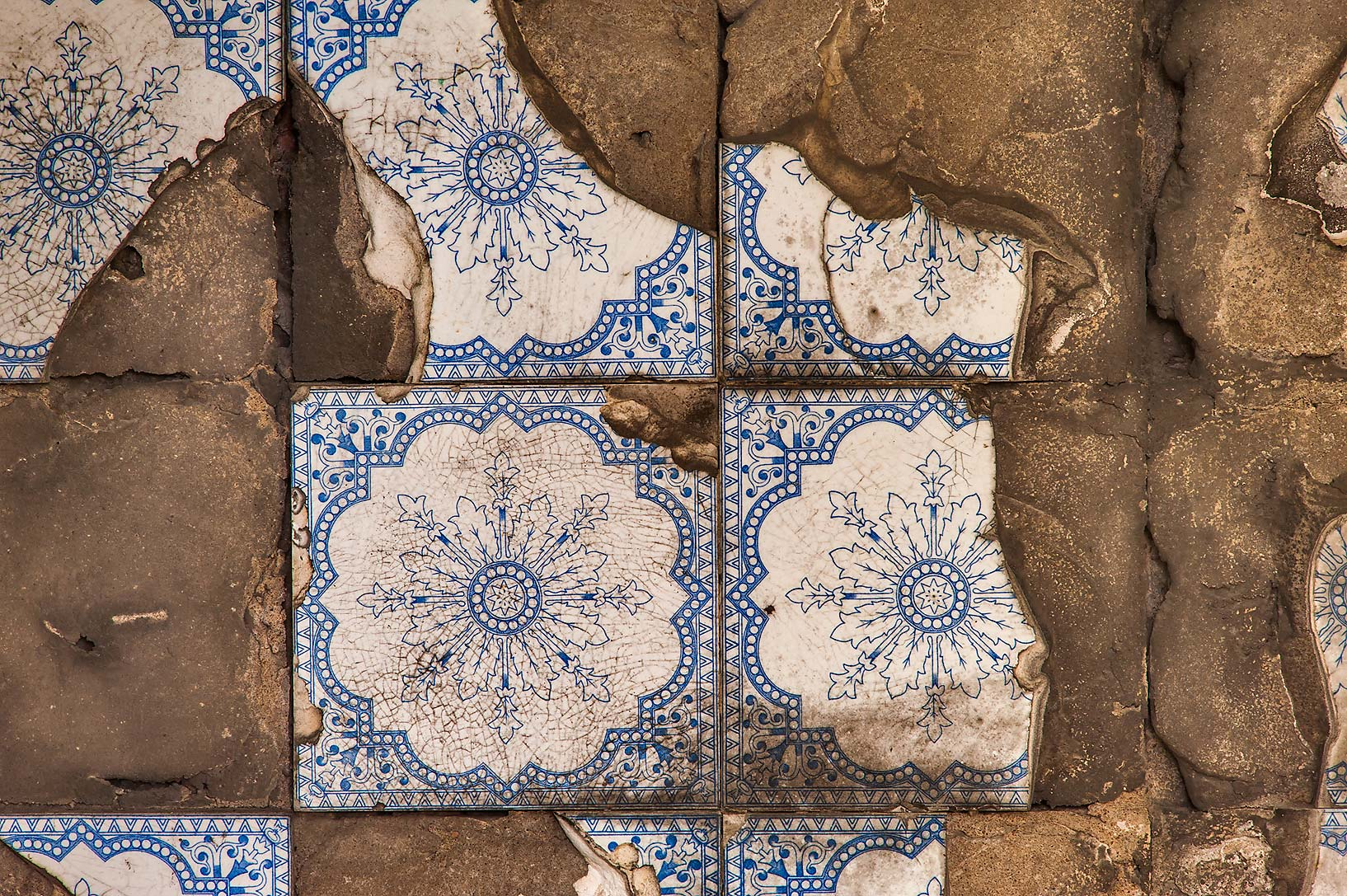 Fragments of tile inside a mausoleum in...Prospekt. St.Petersburg, Russia