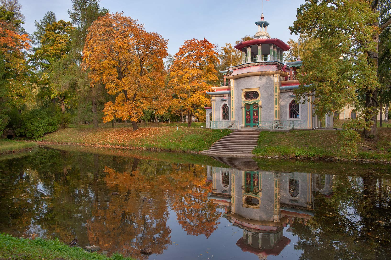 Creaking Summer House in Catherine Park. Pushkin...south from St.Petersburg, Russia
