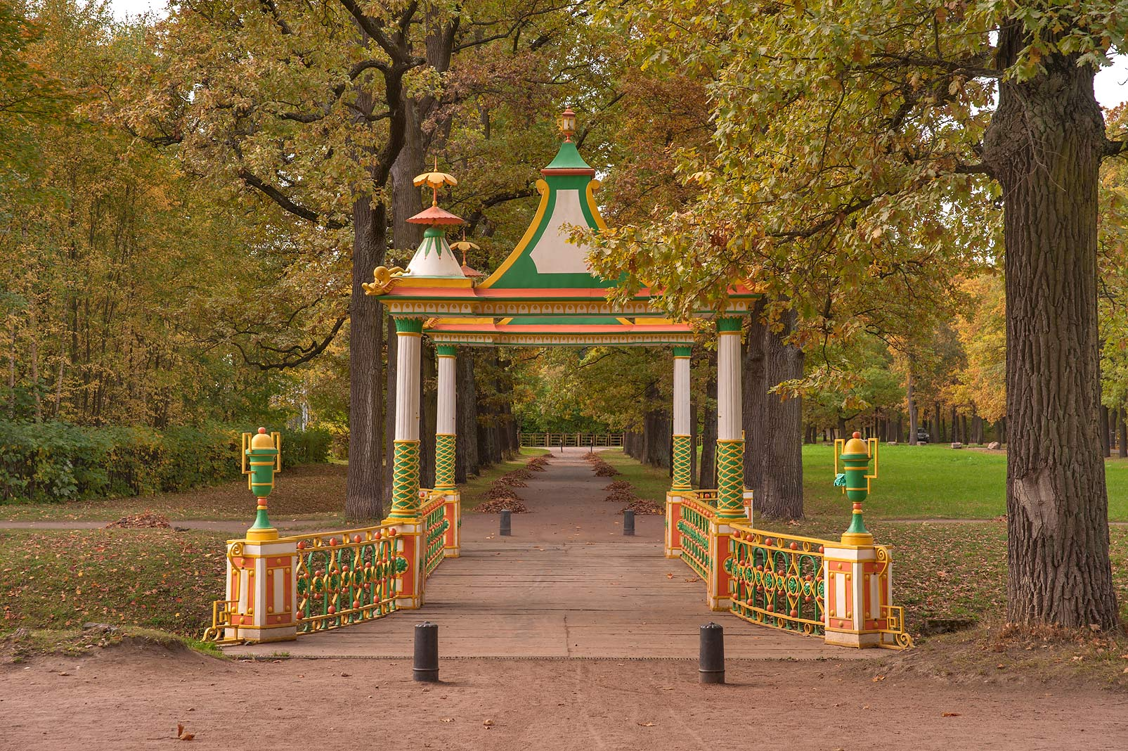 Small Chinese Bridge in Alexander Park. Pushkin...south from St.Petersburg, Russia